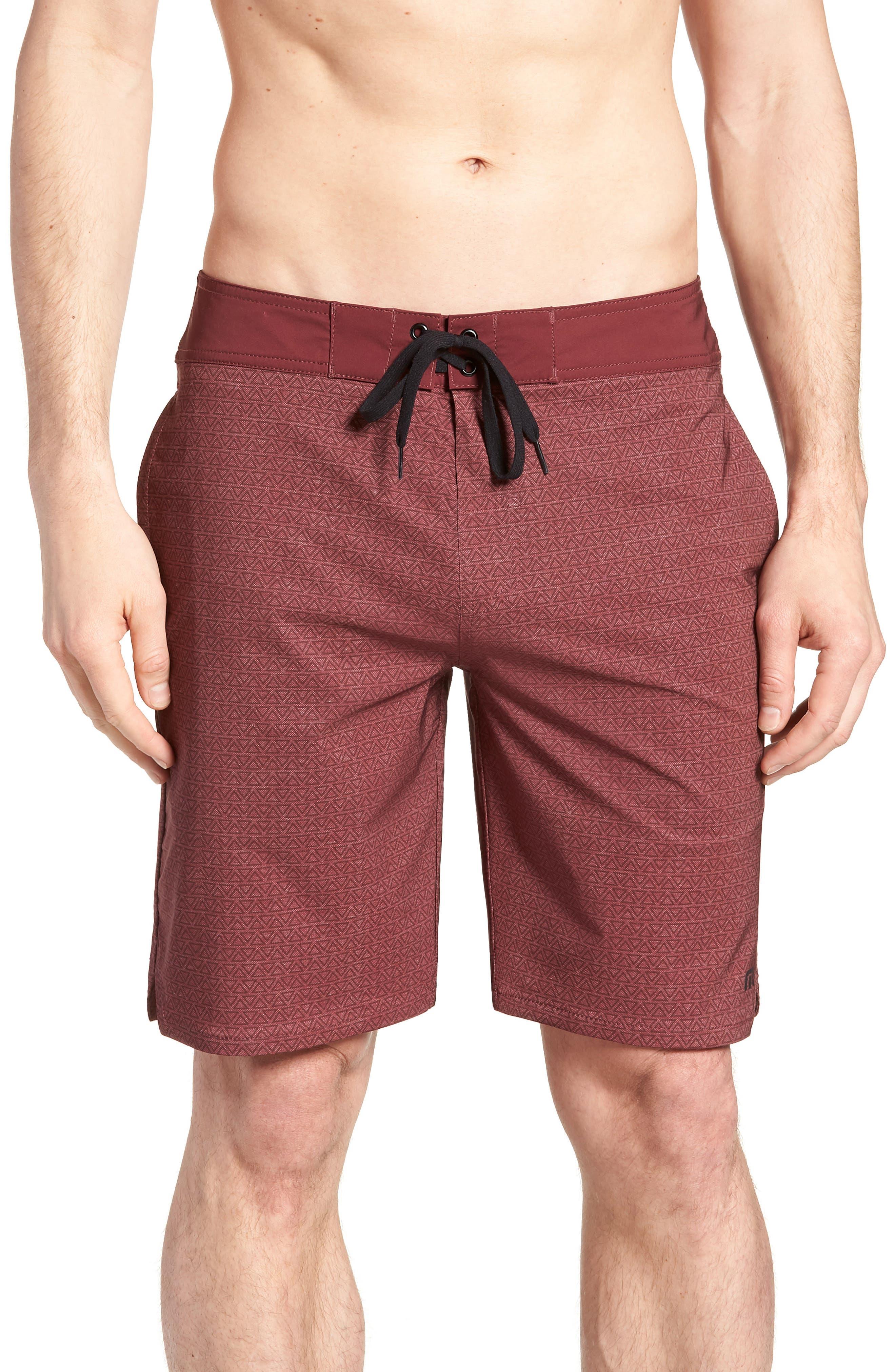 Blanders Regular Fit Board Shorts,                             Main thumbnail 1, color,                             Oxblood