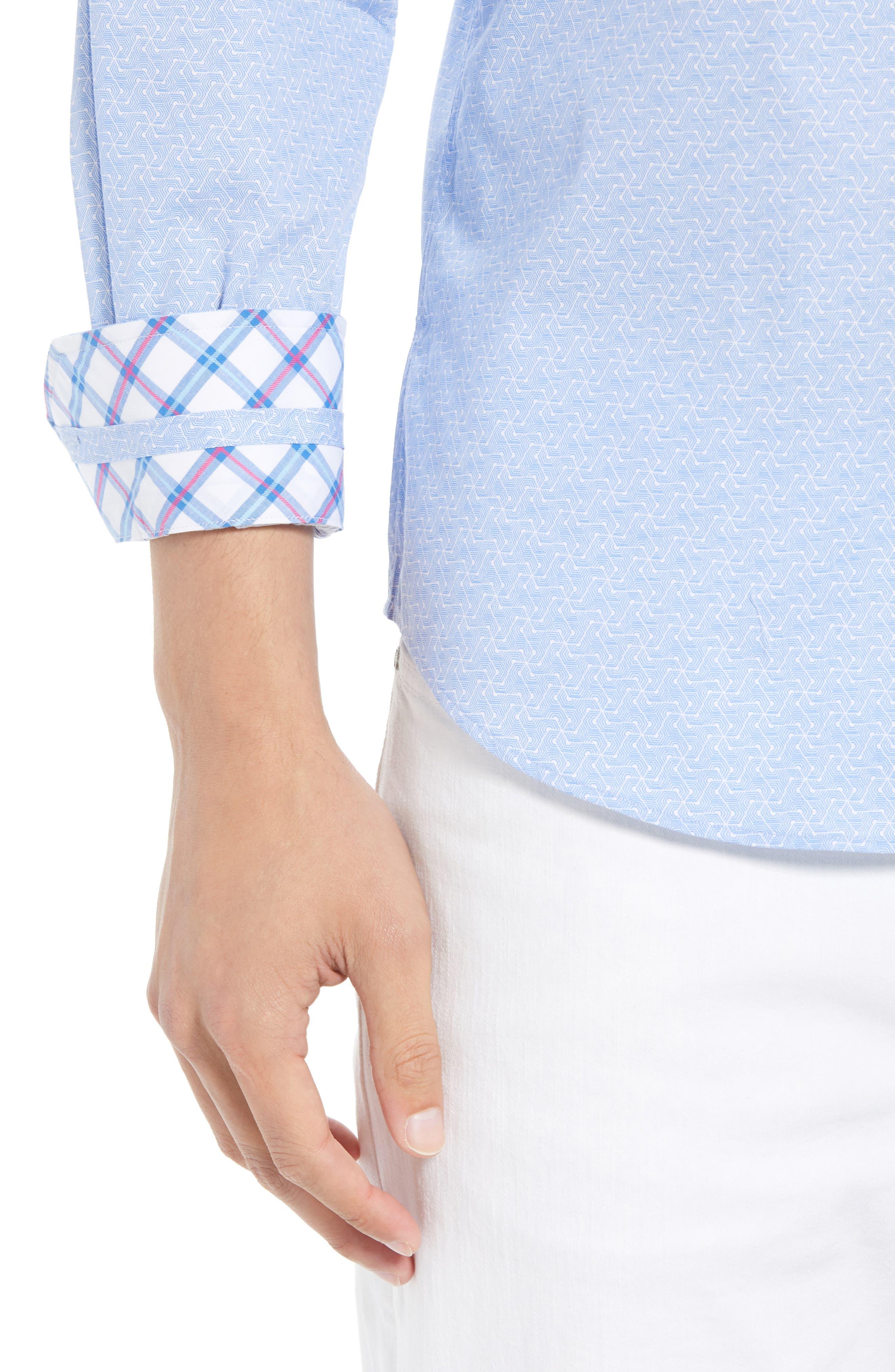 Beckham Regular Fit Plaid Sport Shirt,                             Alternate thumbnail 2, color,                             Light Blue