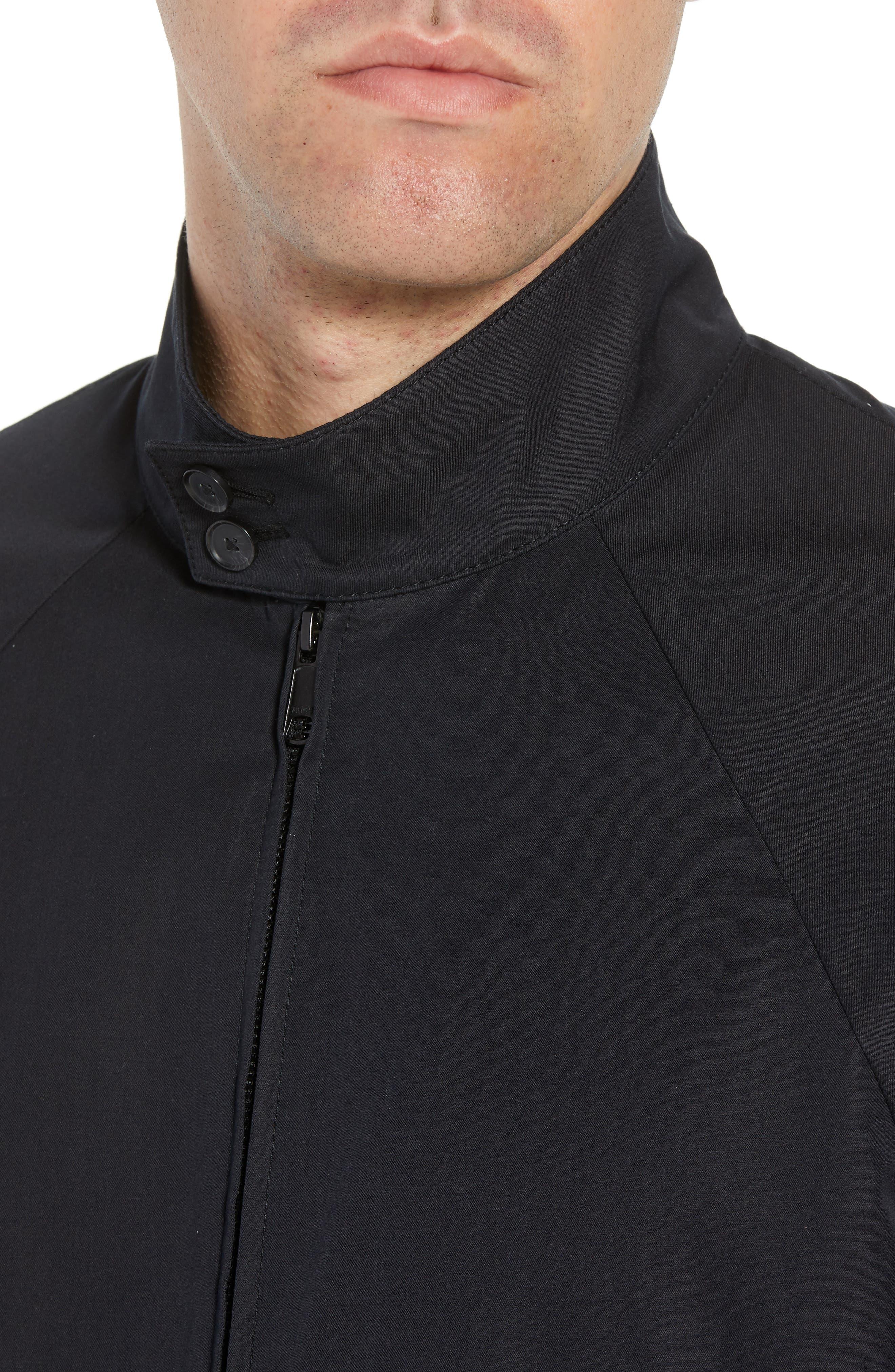 Regular Fit Jacket,                             Alternate thumbnail 4, color,                             Black