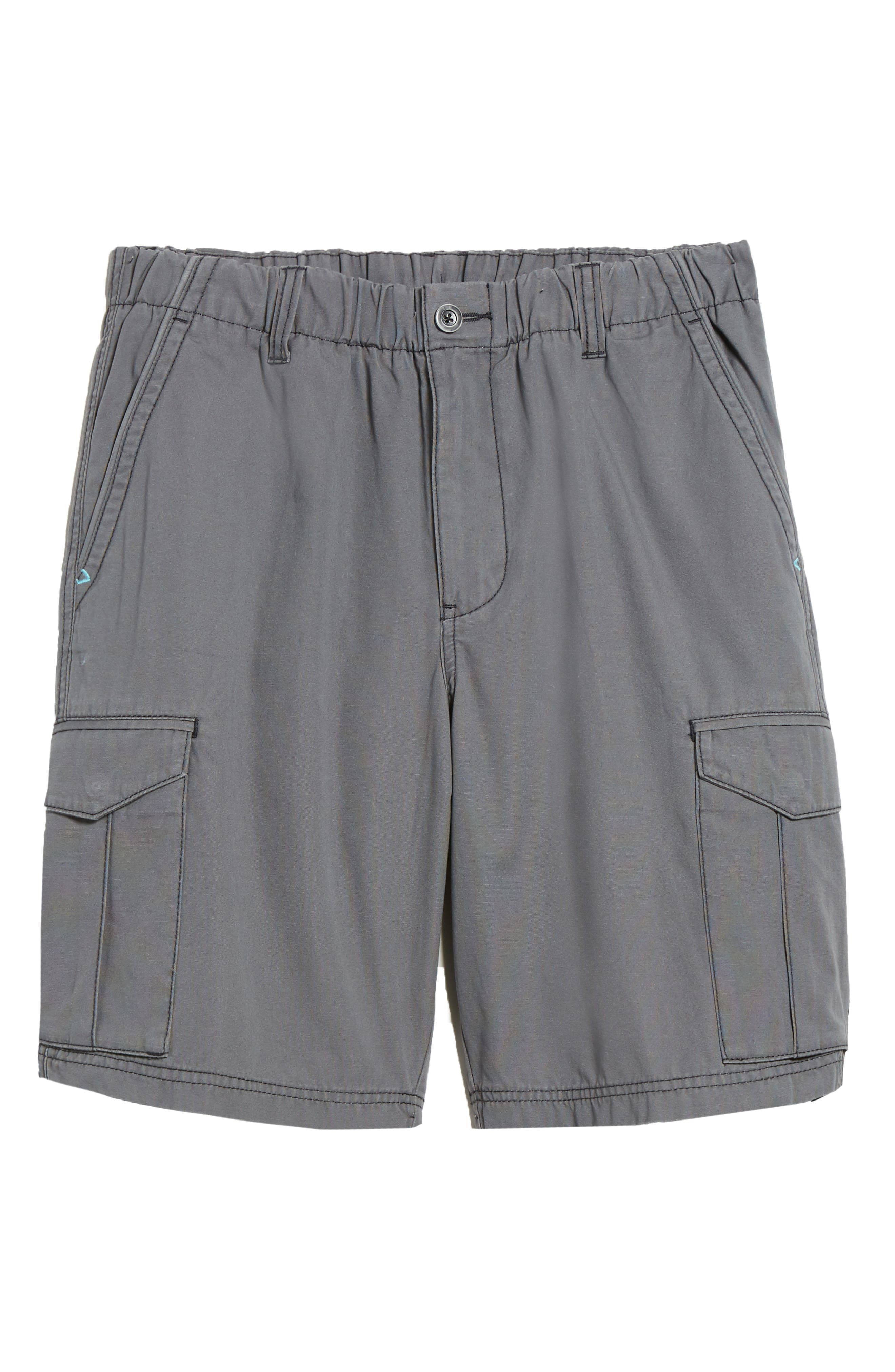 Island Survivalist Cargo Shorts,                             Alternate thumbnail 6, color,                             Fog Grey