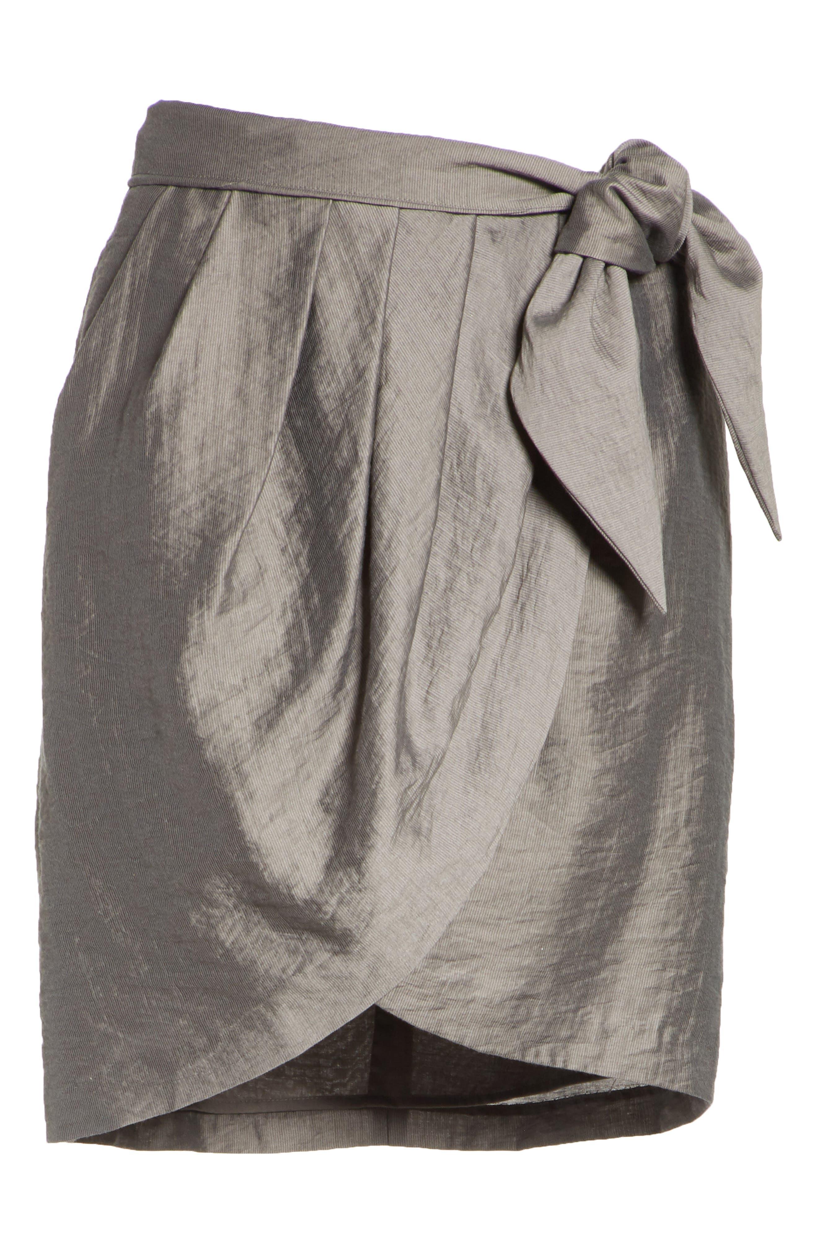 Erlecia Wrap Skirt,                             Alternate thumbnail 7, color,                             Moss