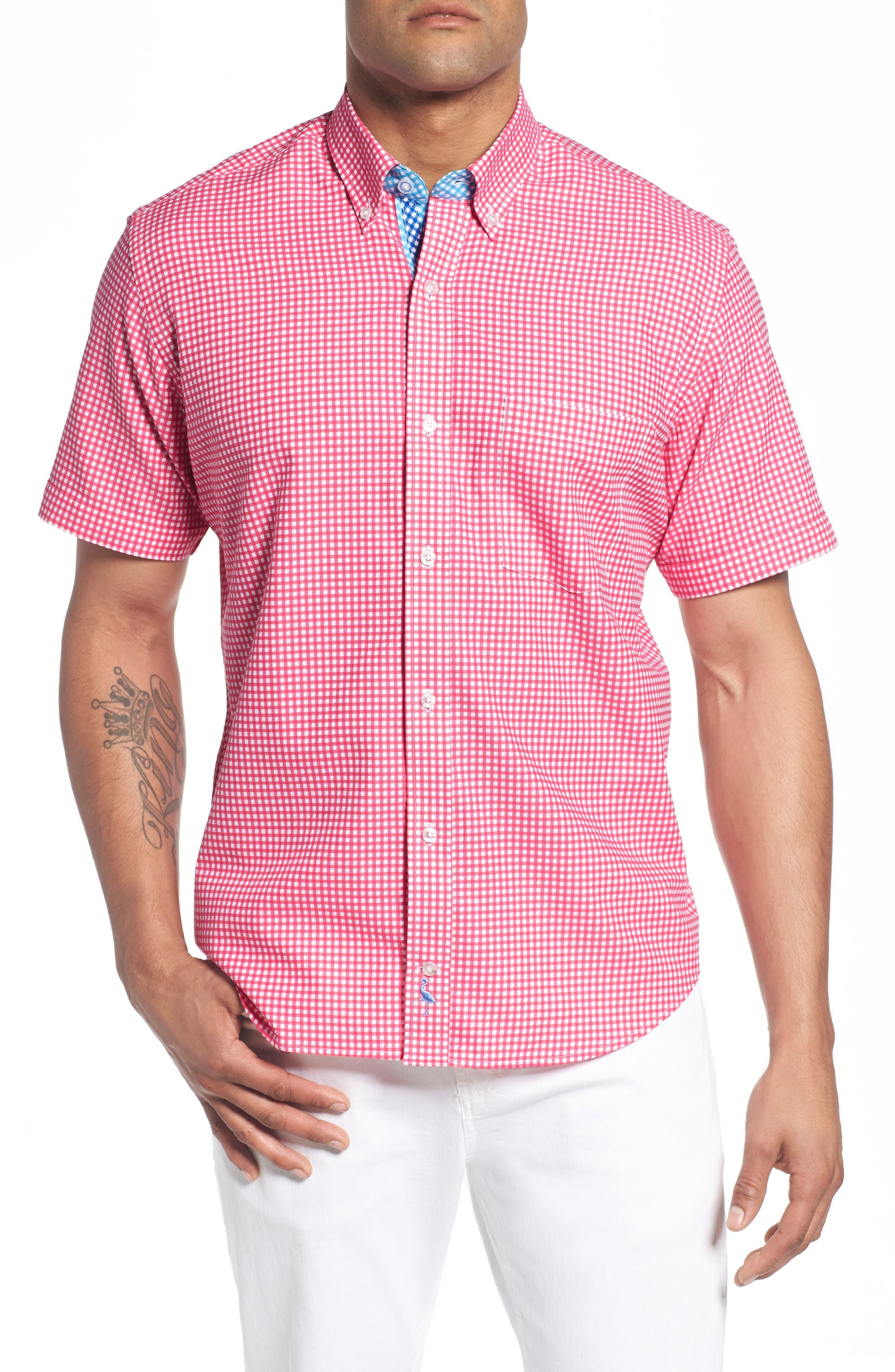 Aden Regular Fit Sport Shirt,                         Main,                         color, Coral