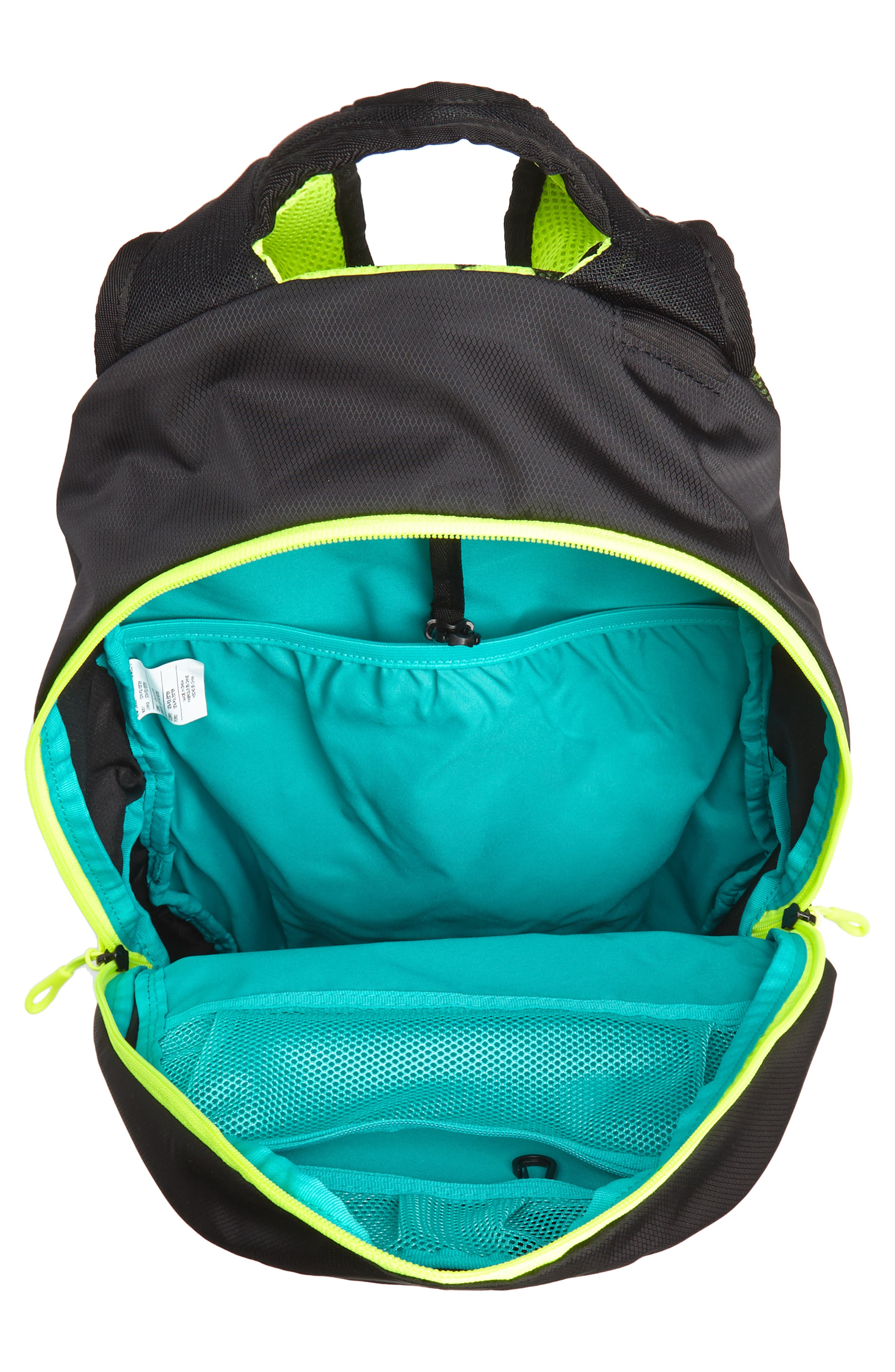 Run Commuter Backpack,                             Alternate thumbnail 4, color,                             Black/ Volt/ Silver