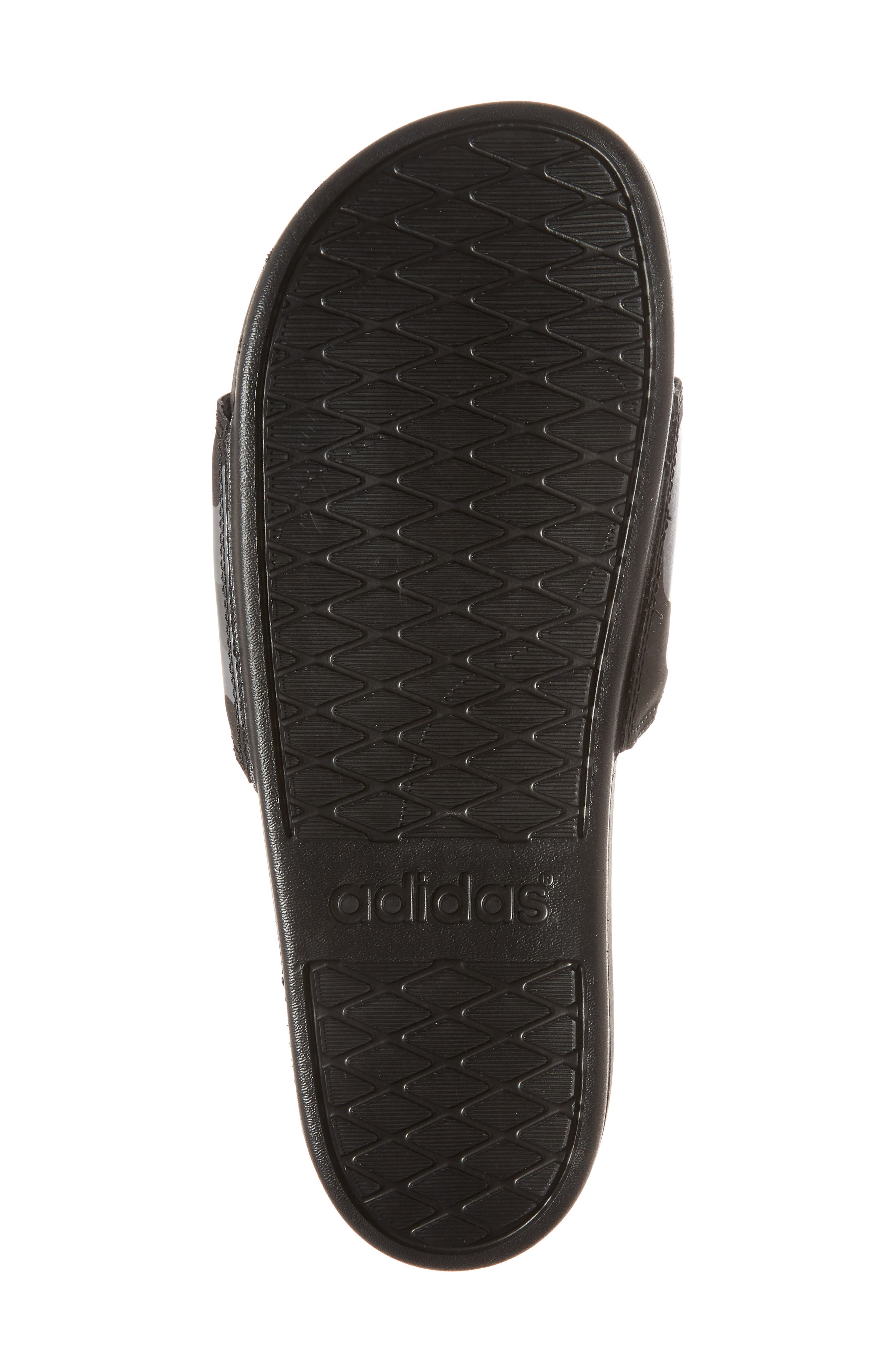 Cloudfoam Plus Slide Sandal,                             Alternate thumbnail 6, color,                             Core Black/ White/ Carbon