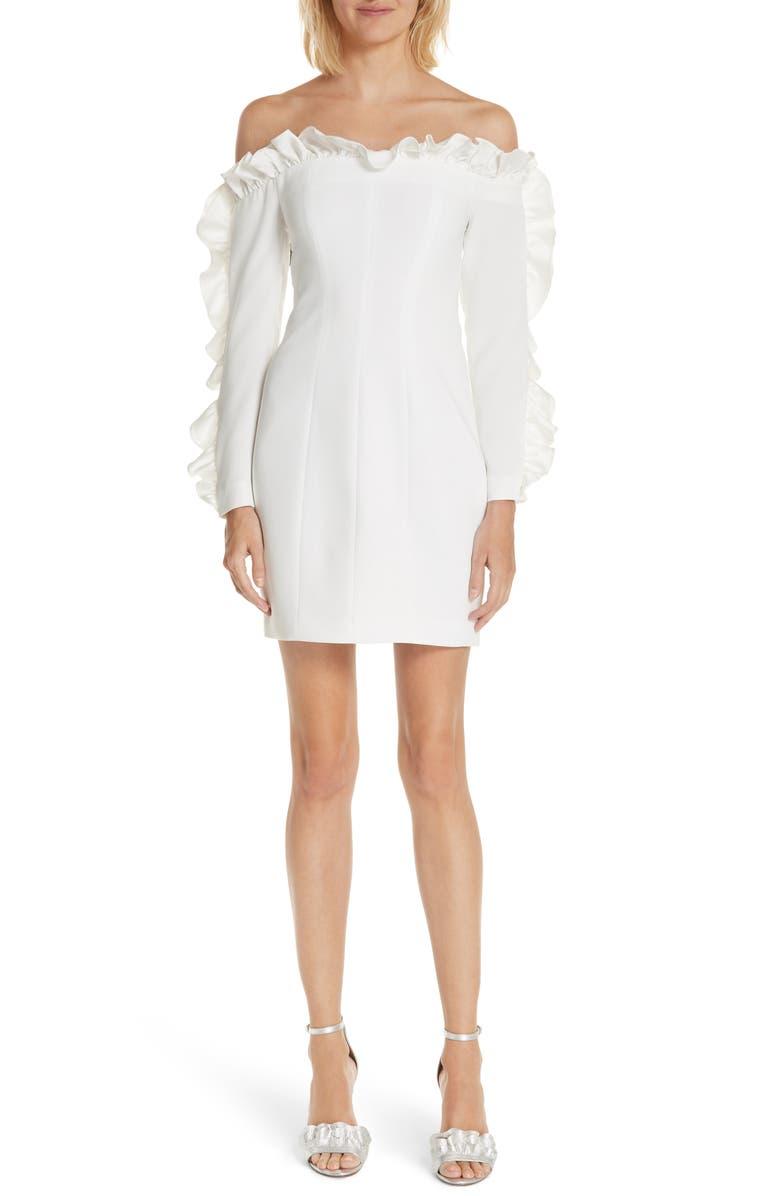 Rosemarie Ruffle Off the Shoulder Dress