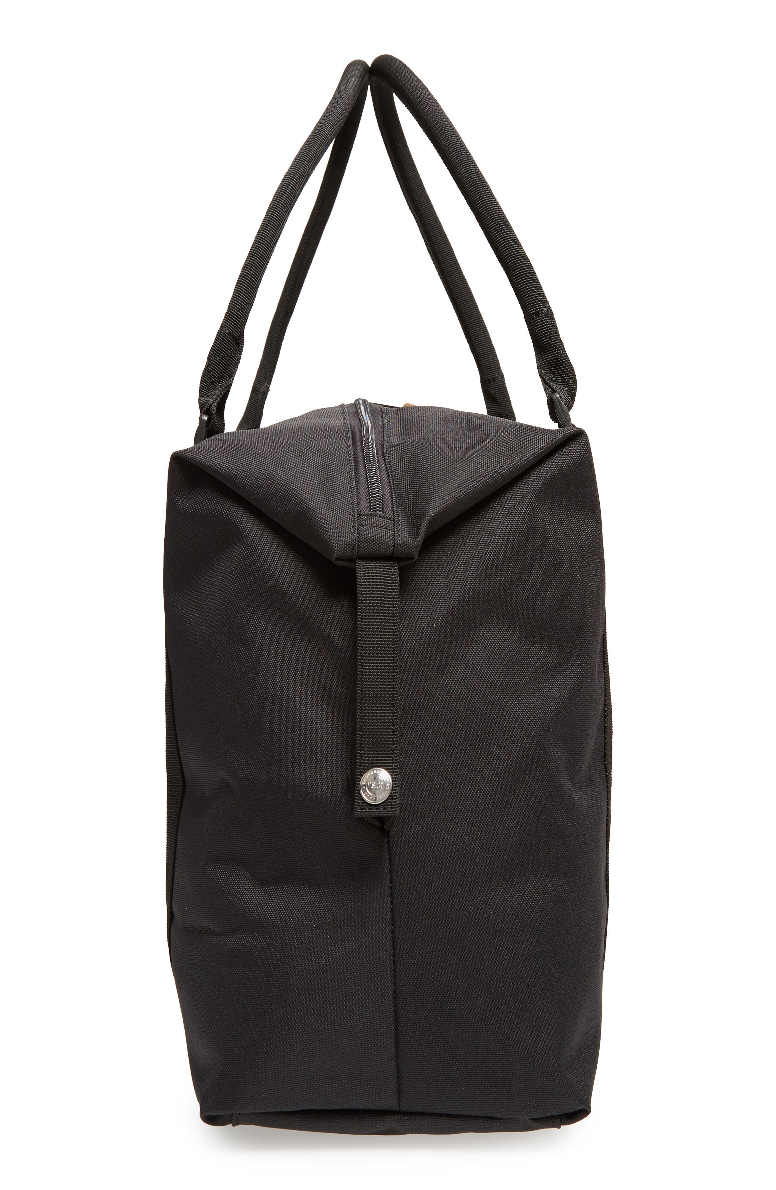 Strand Duffel Bag,                             Alternate thumbnail 5, color,                             Black