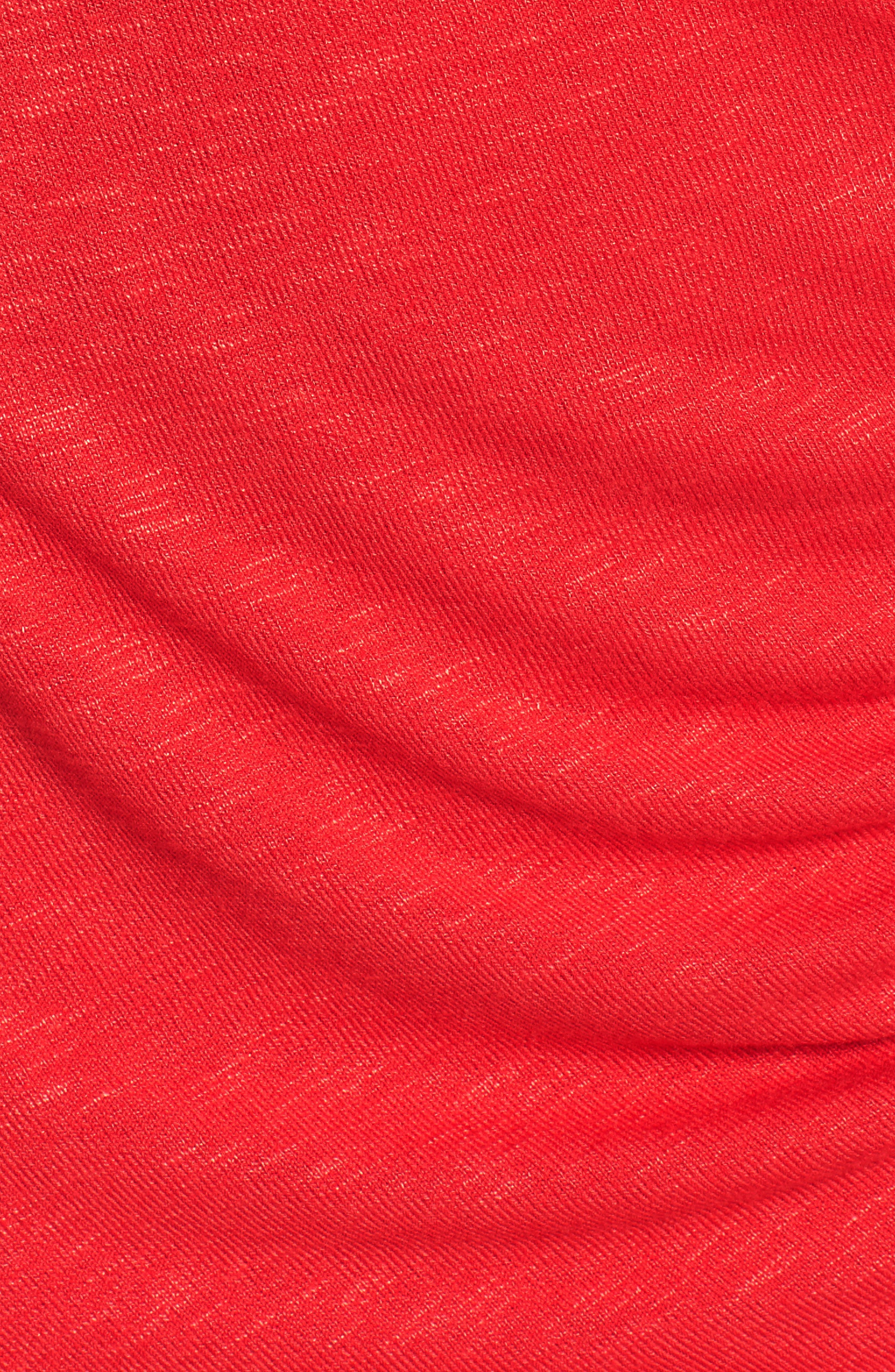 Ruched Minidress,                             Alternate thumbnail 6, color,                             Red