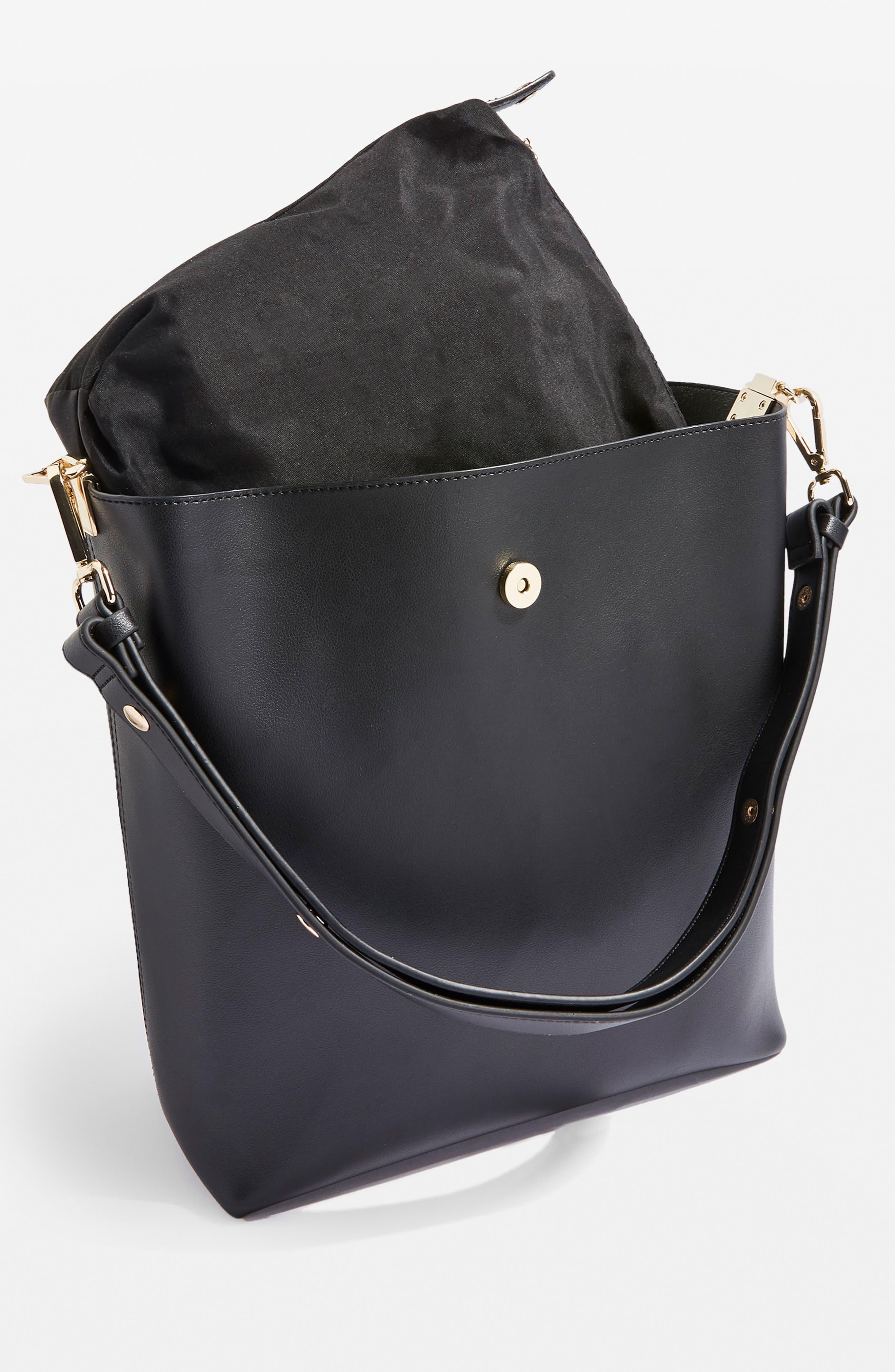 Hampton Hobo Bag,                             Alternate thumbnail 3, color,                             Black