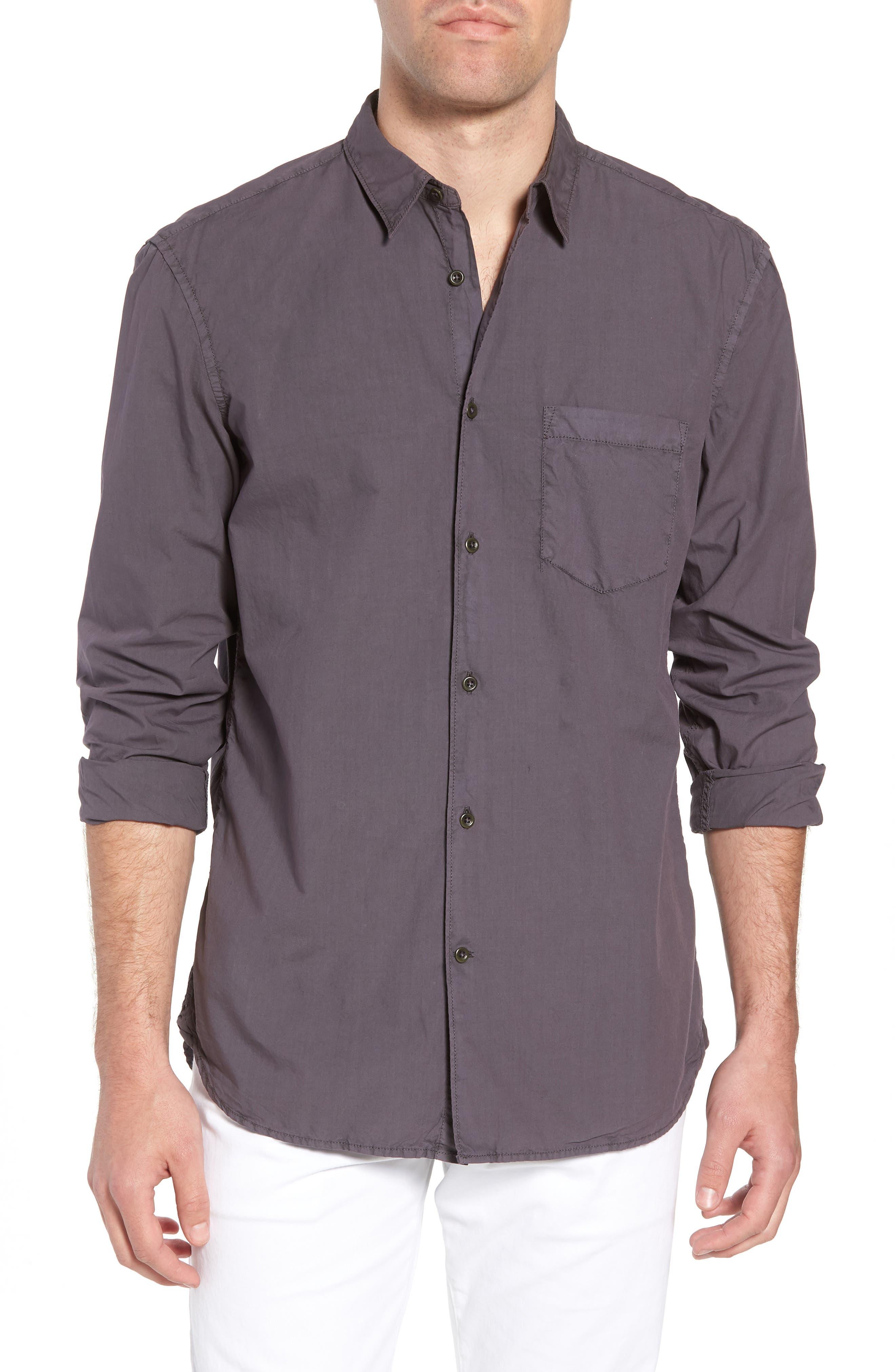 Regular Fit Poplin Sport Shirt,                             Main thumbnail 1, color,                             Workwear Grey