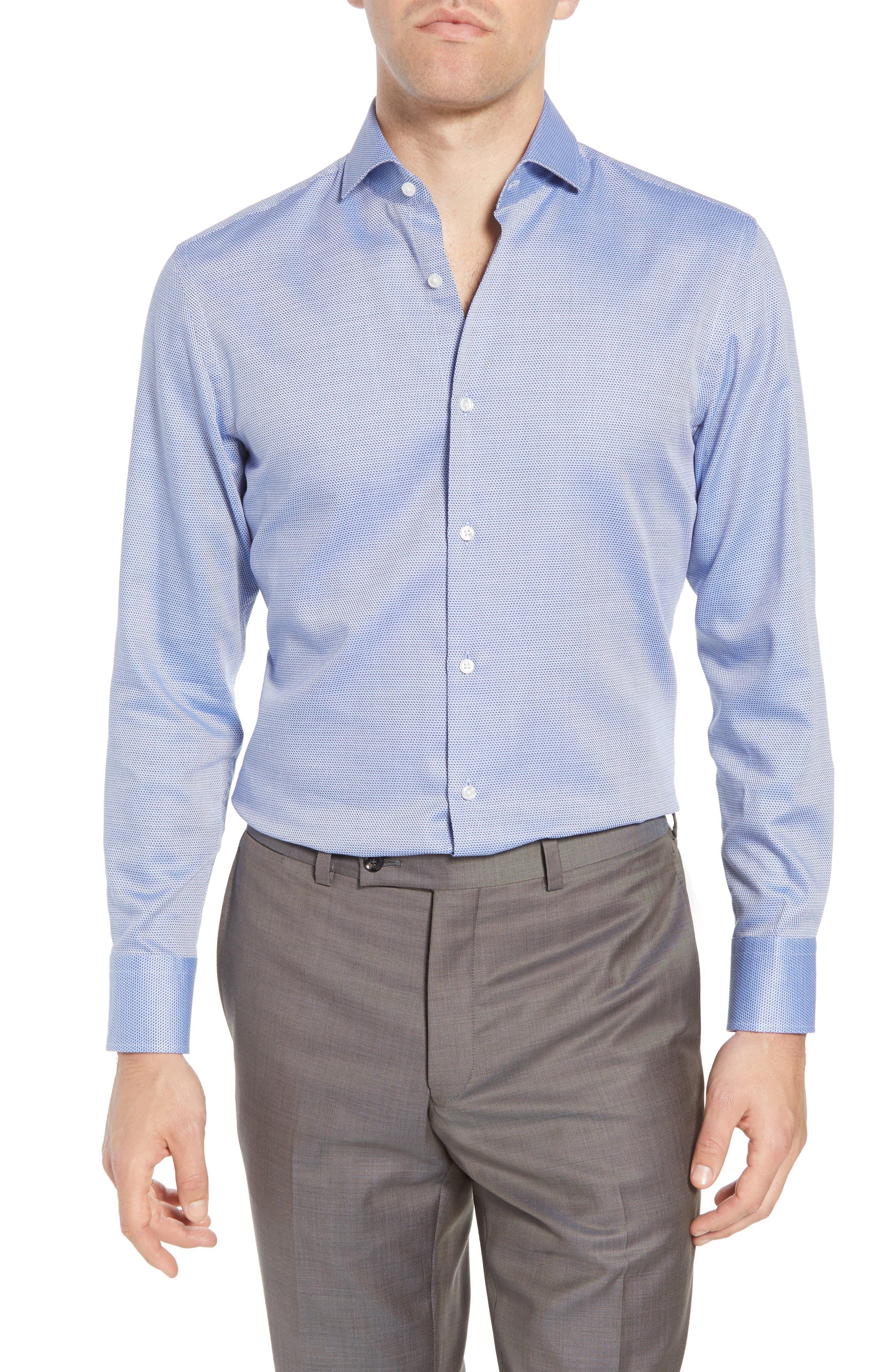Sharp Fit Dress Shirt,                             Main thumbnail 1, color,                             Blue