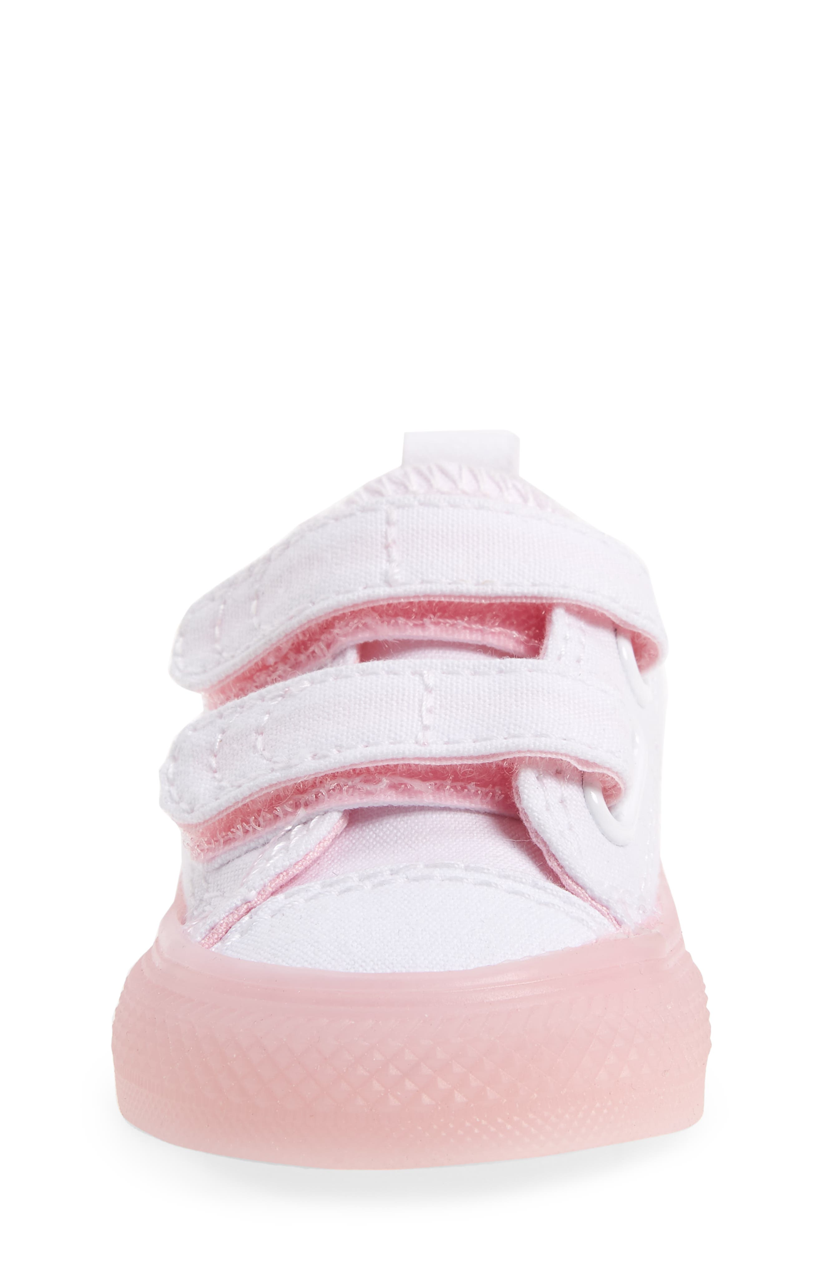 Chuck Taylor<sup>®</sup> All Star<sup>®</sup> Jelly Sneaker,                             Alternate thumbnail 4, color,                             White/ Cherry