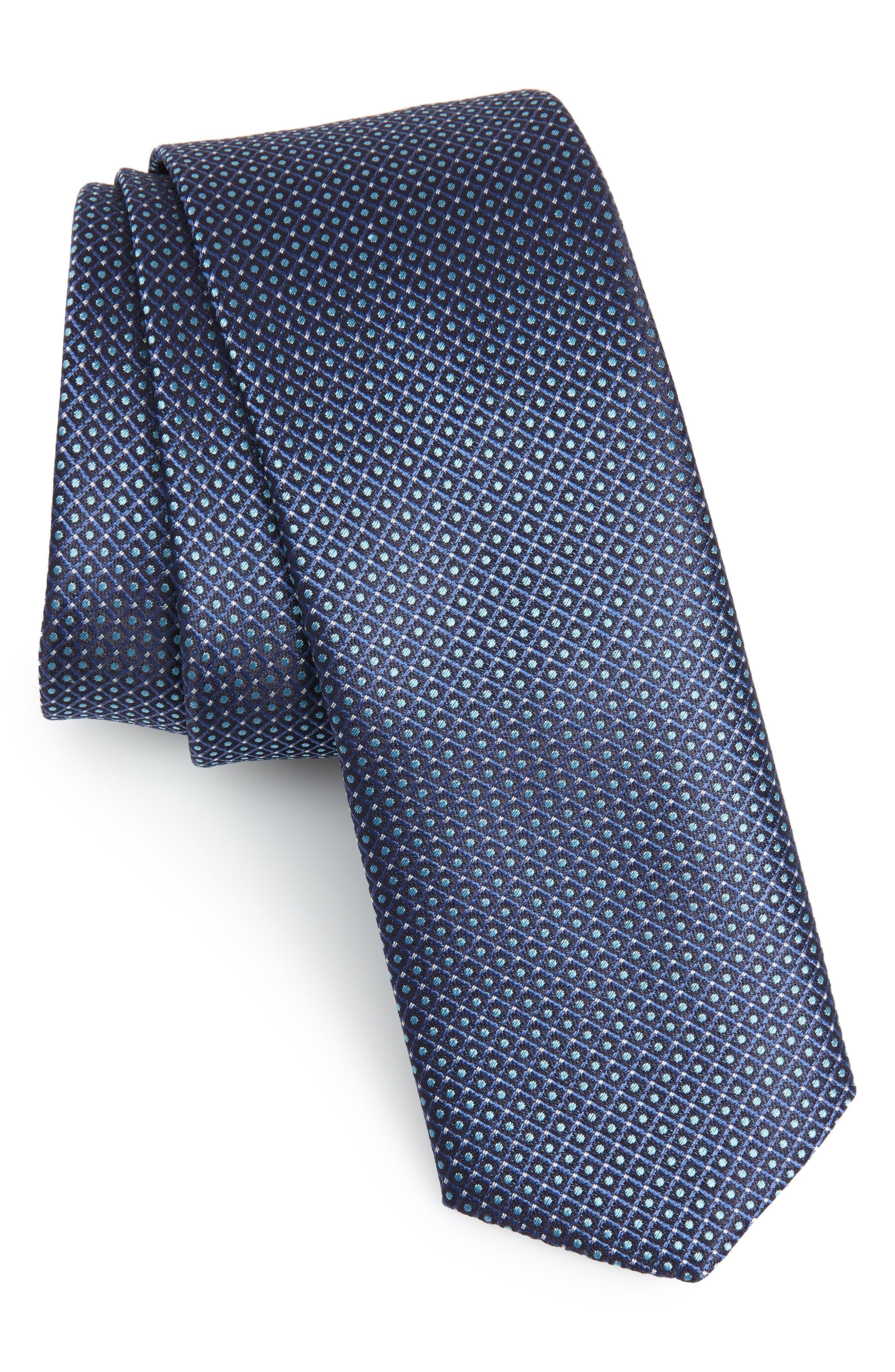 BOSS Check Silk Tie