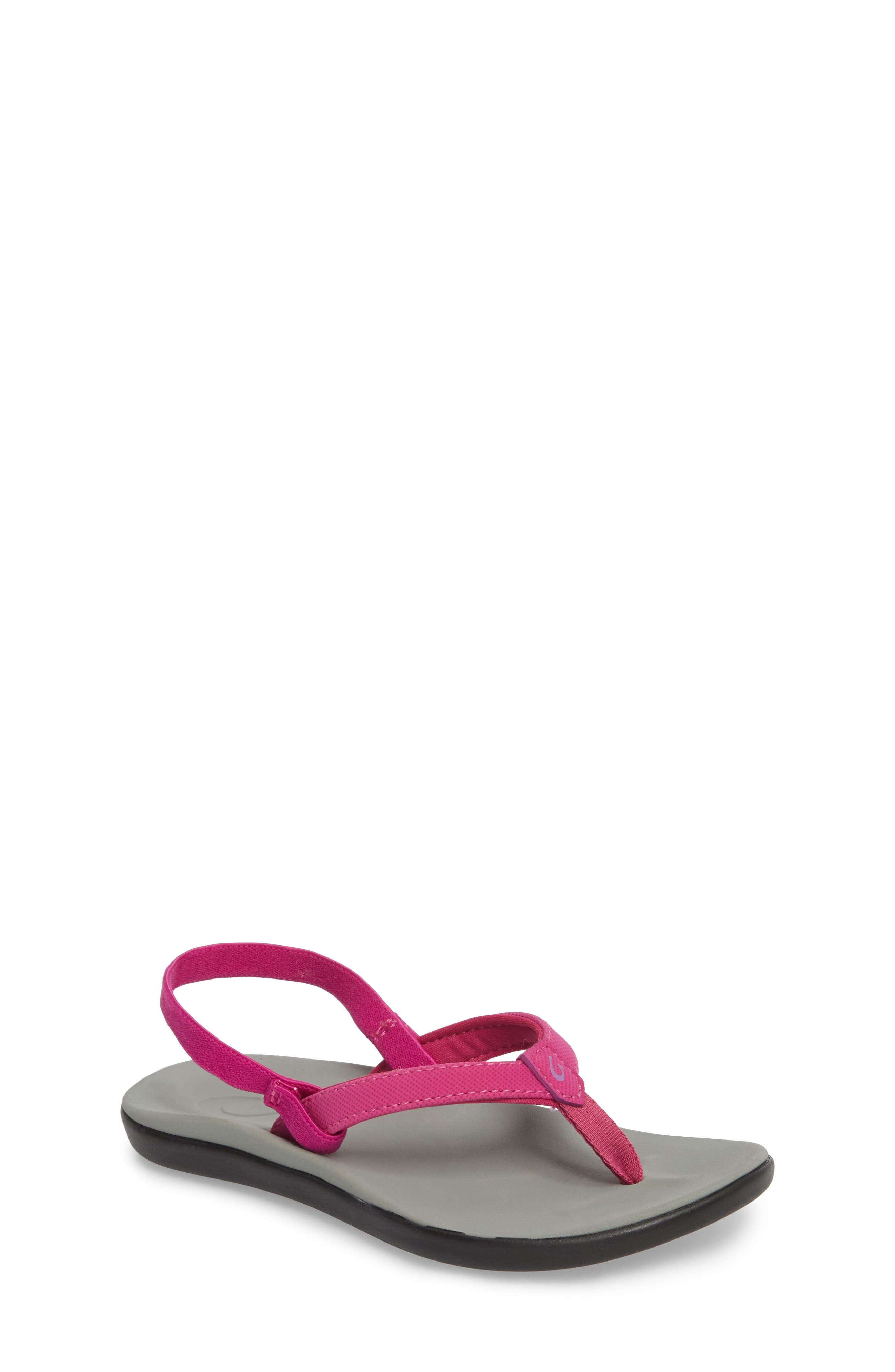 Ho'opio Sandal,                         Main,                         color, Grape Juice/ Pale Grey