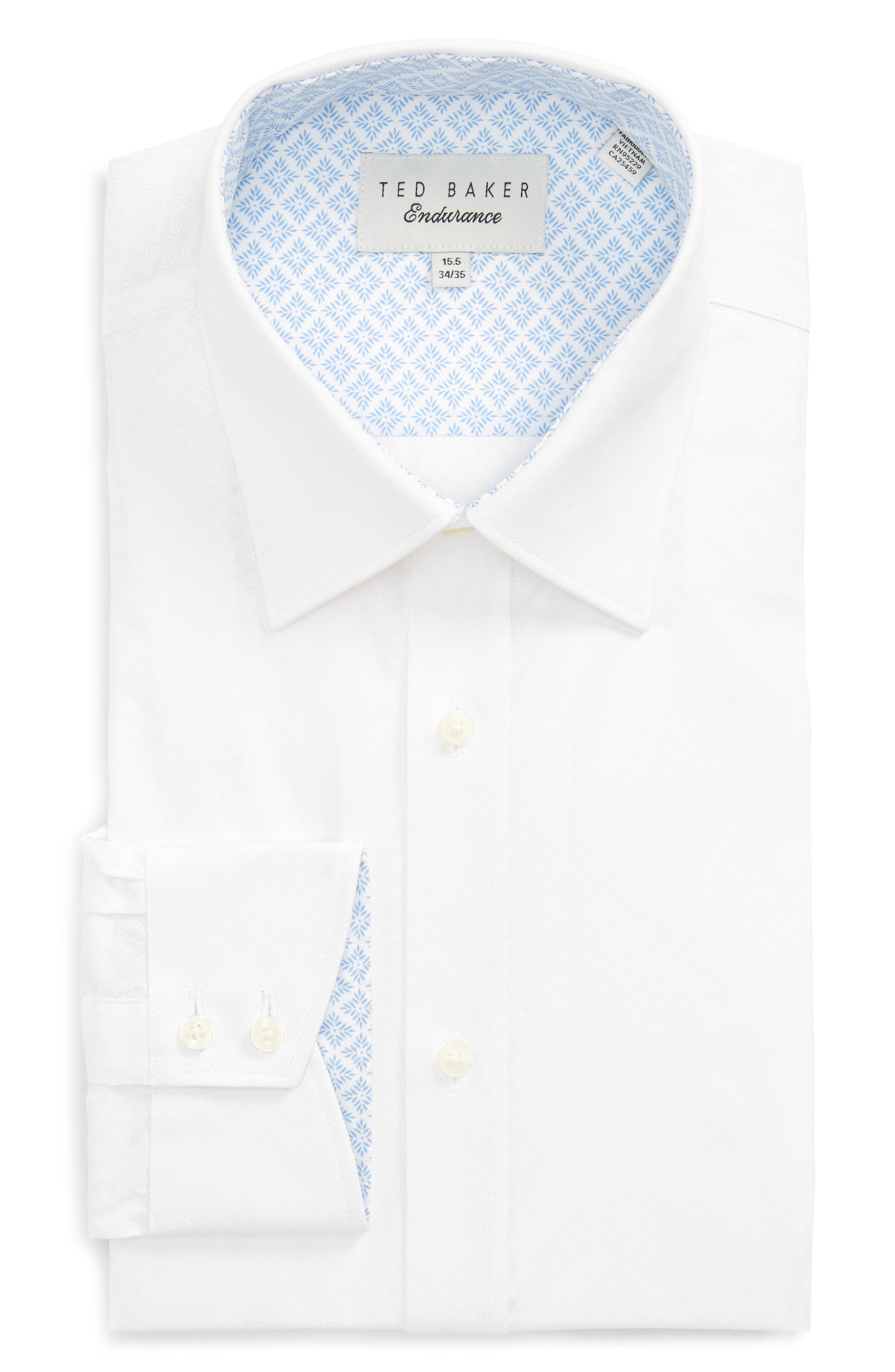 Ted Baker London Trim Fit Solid Dress Shirt