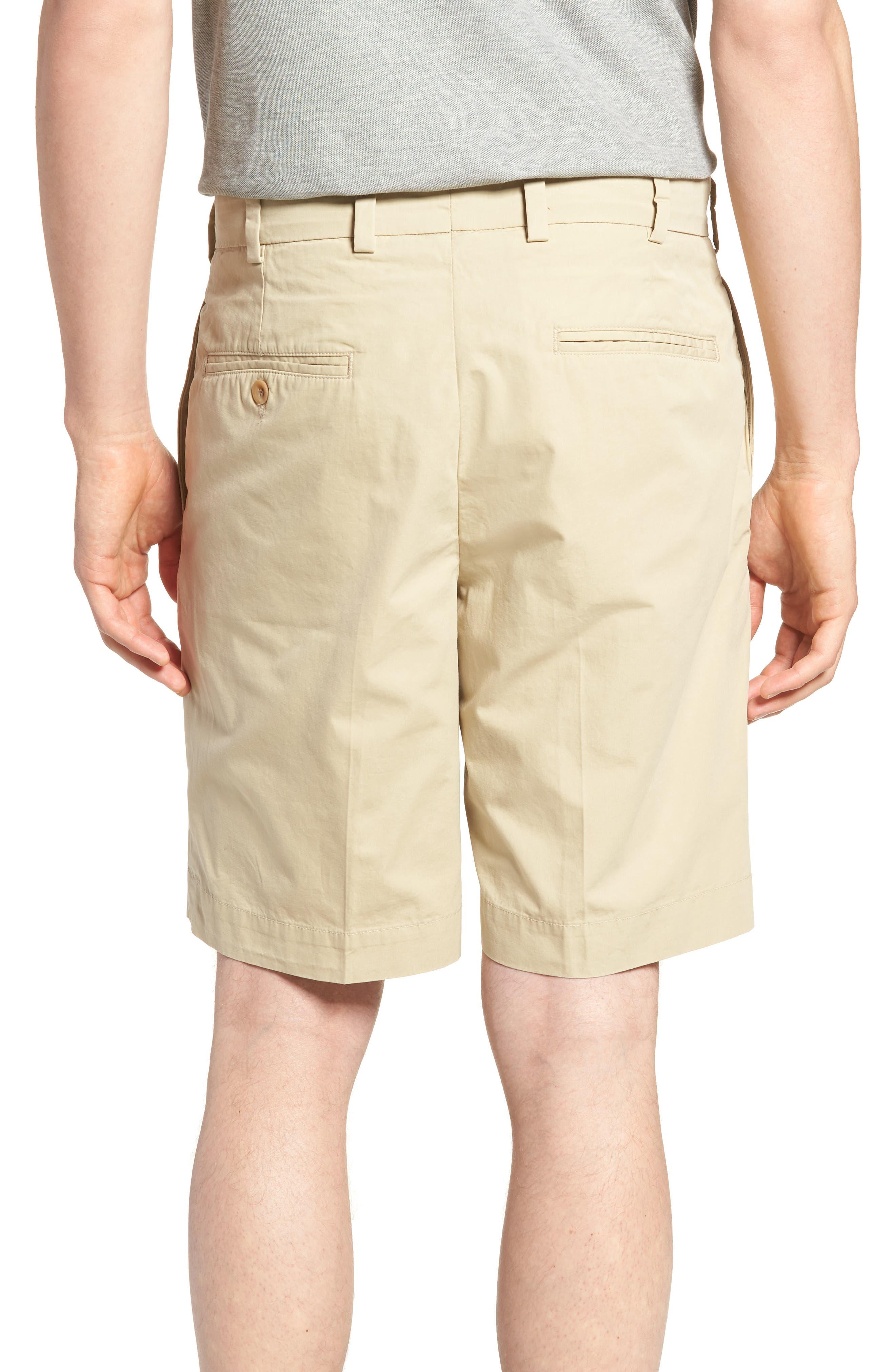 M2 Classic Fit Flat Front Tropical Cotton Poplin Shorts,                             Alternate thumbnail 2, color,                             Khaki