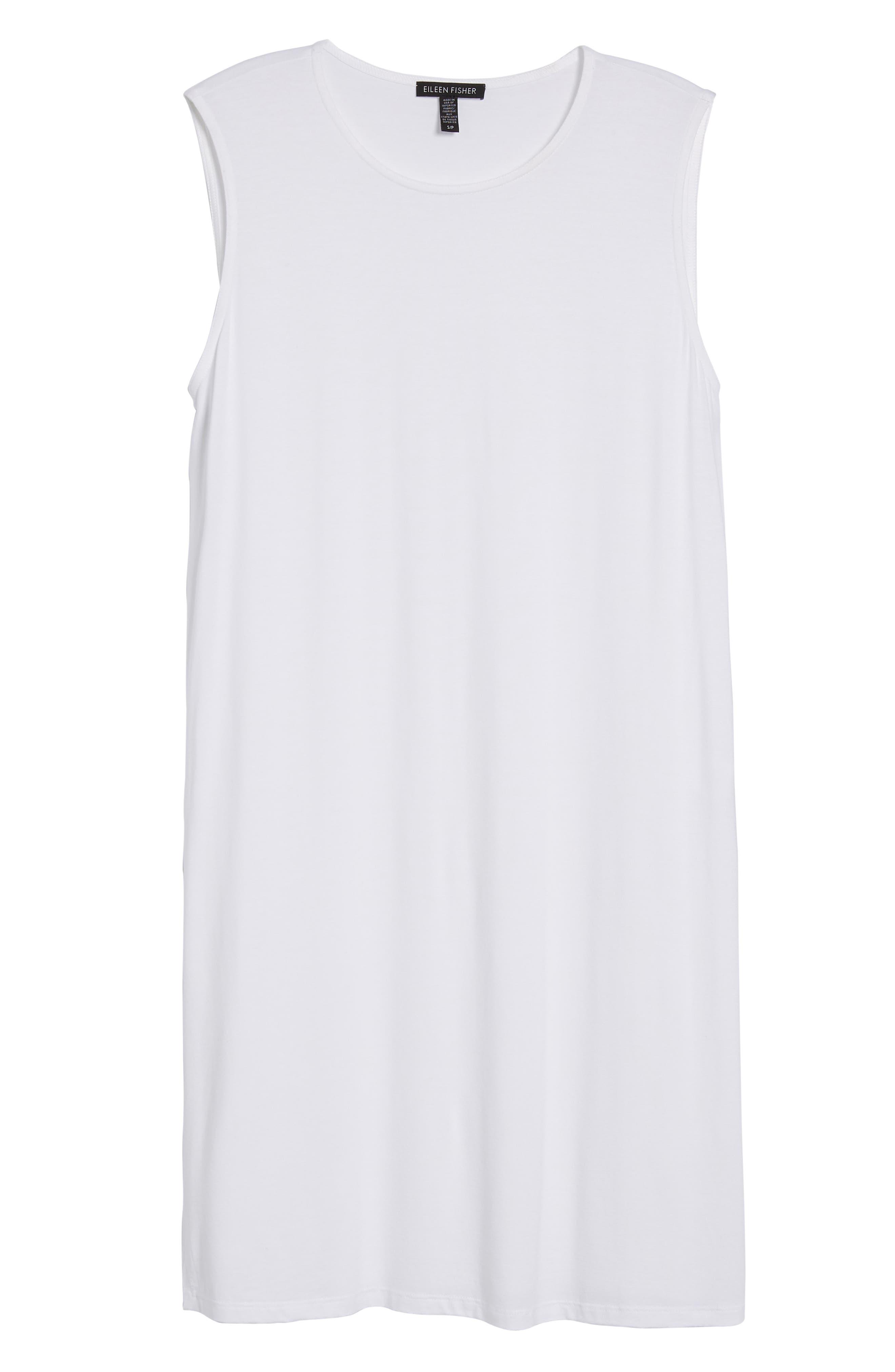 Long Jersey Tunic,                             Alternate thumbnail 7, color,                             White