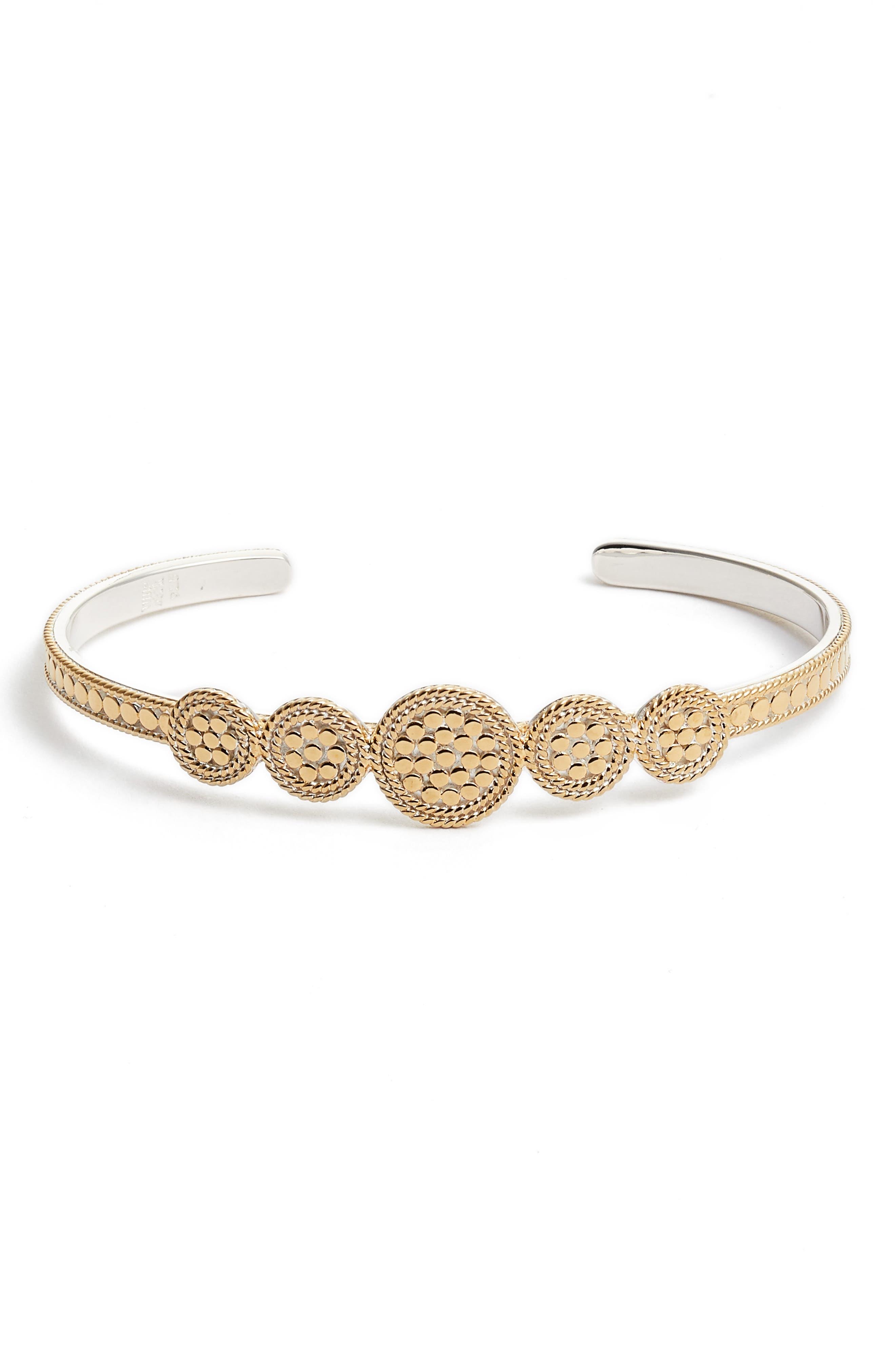 Anna Beck Gold Plate Multi Disc Cuff Bracelet