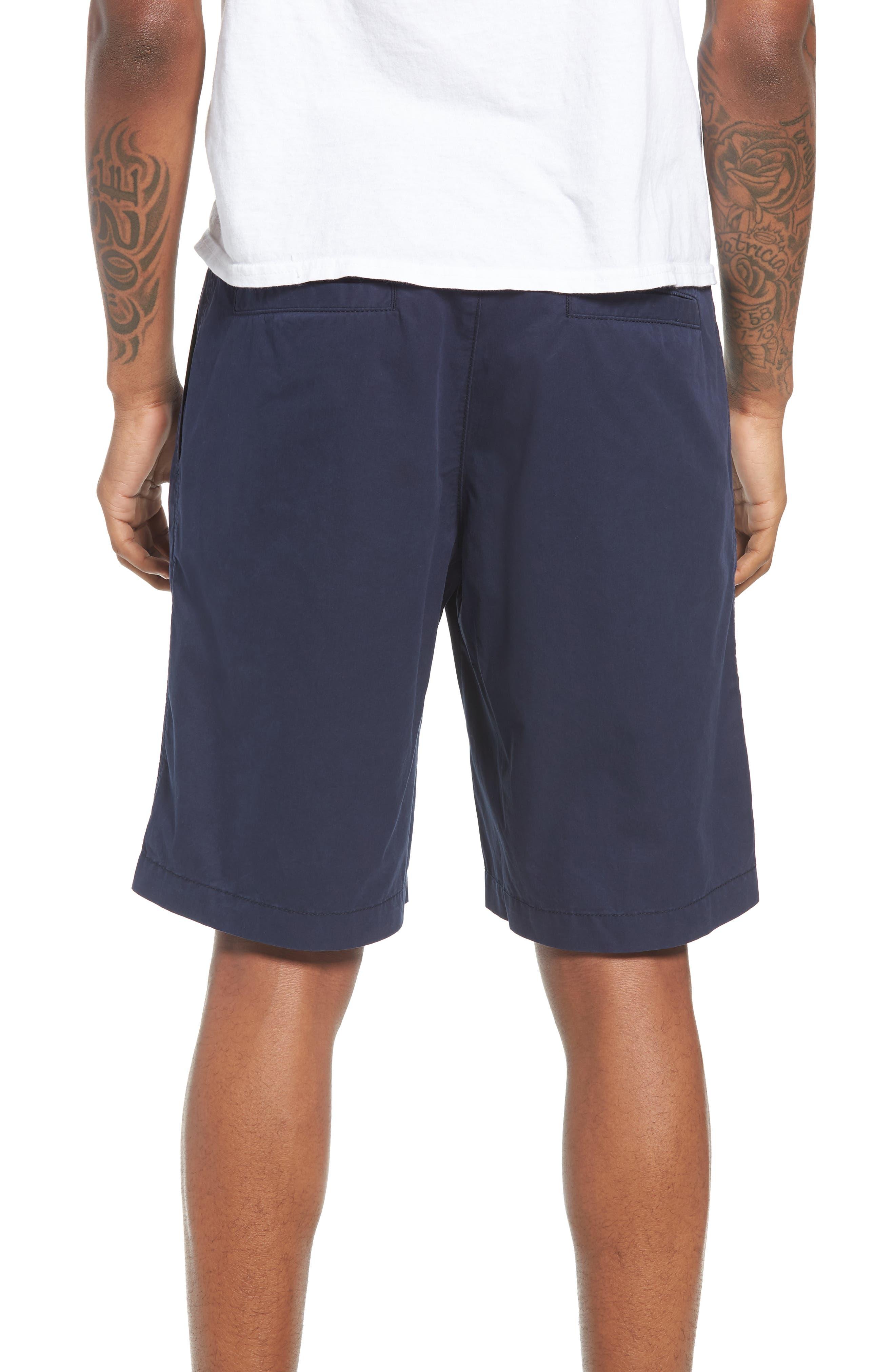 Pleated Chino Shorts,                             Alternate thumbnail 2, color,                             Navy Peacoat