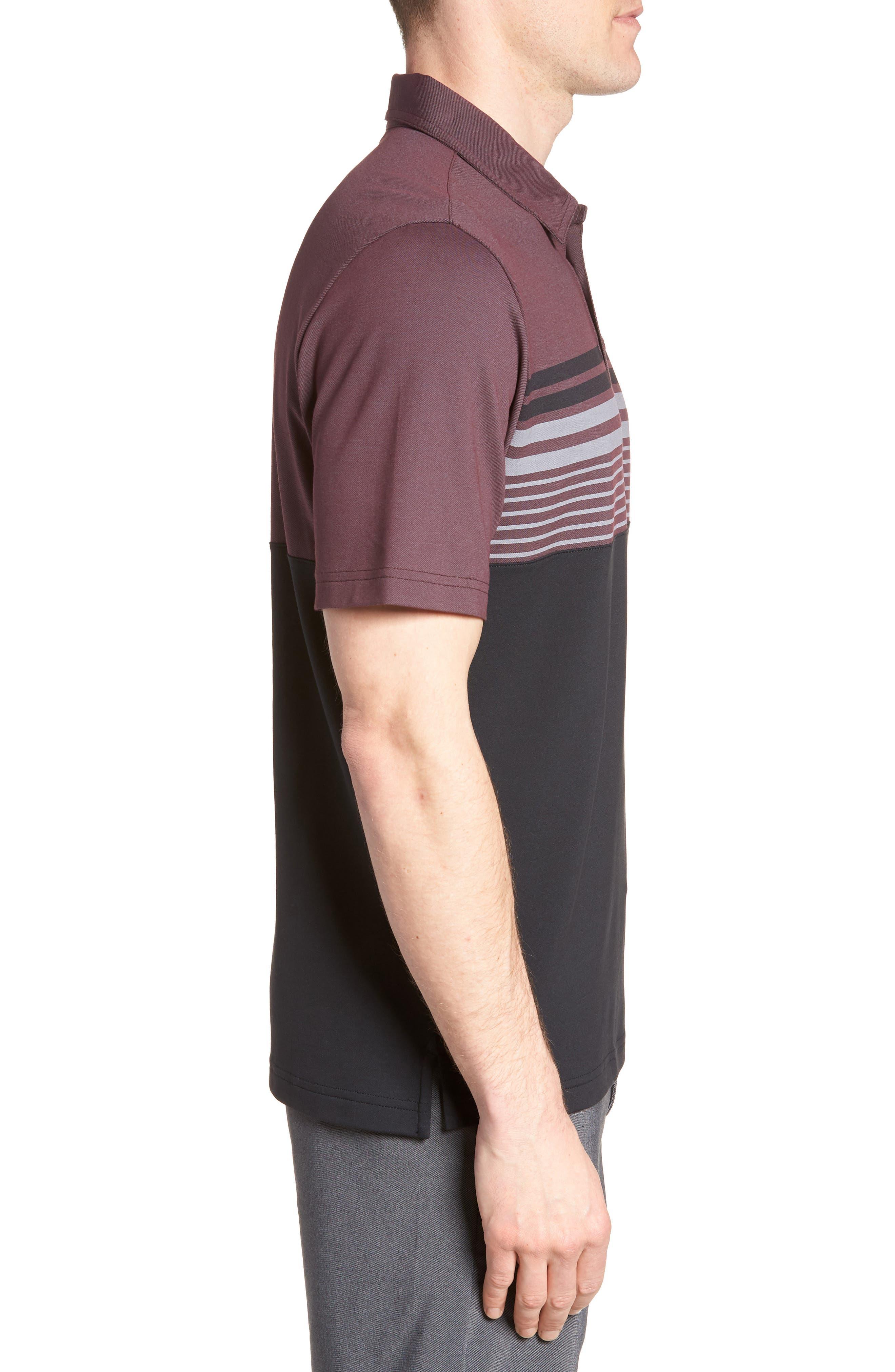 Boomer Polo Shirt,                             Alternate thumbnail 3, color,                             Winetasting