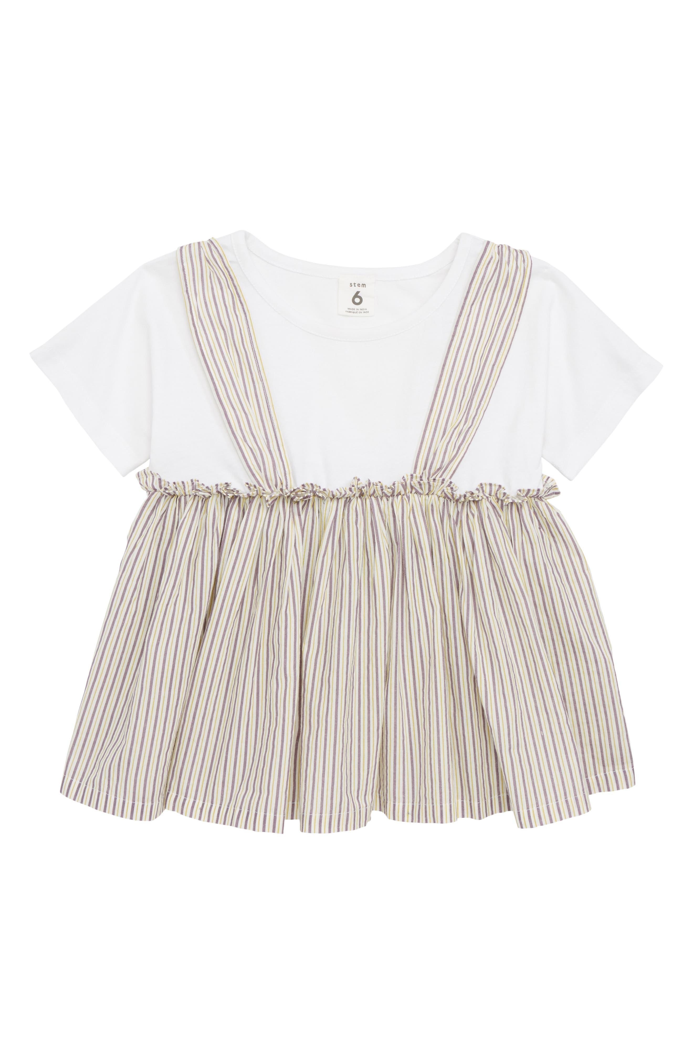 ,                         Main,                         color, White Multi Stripe