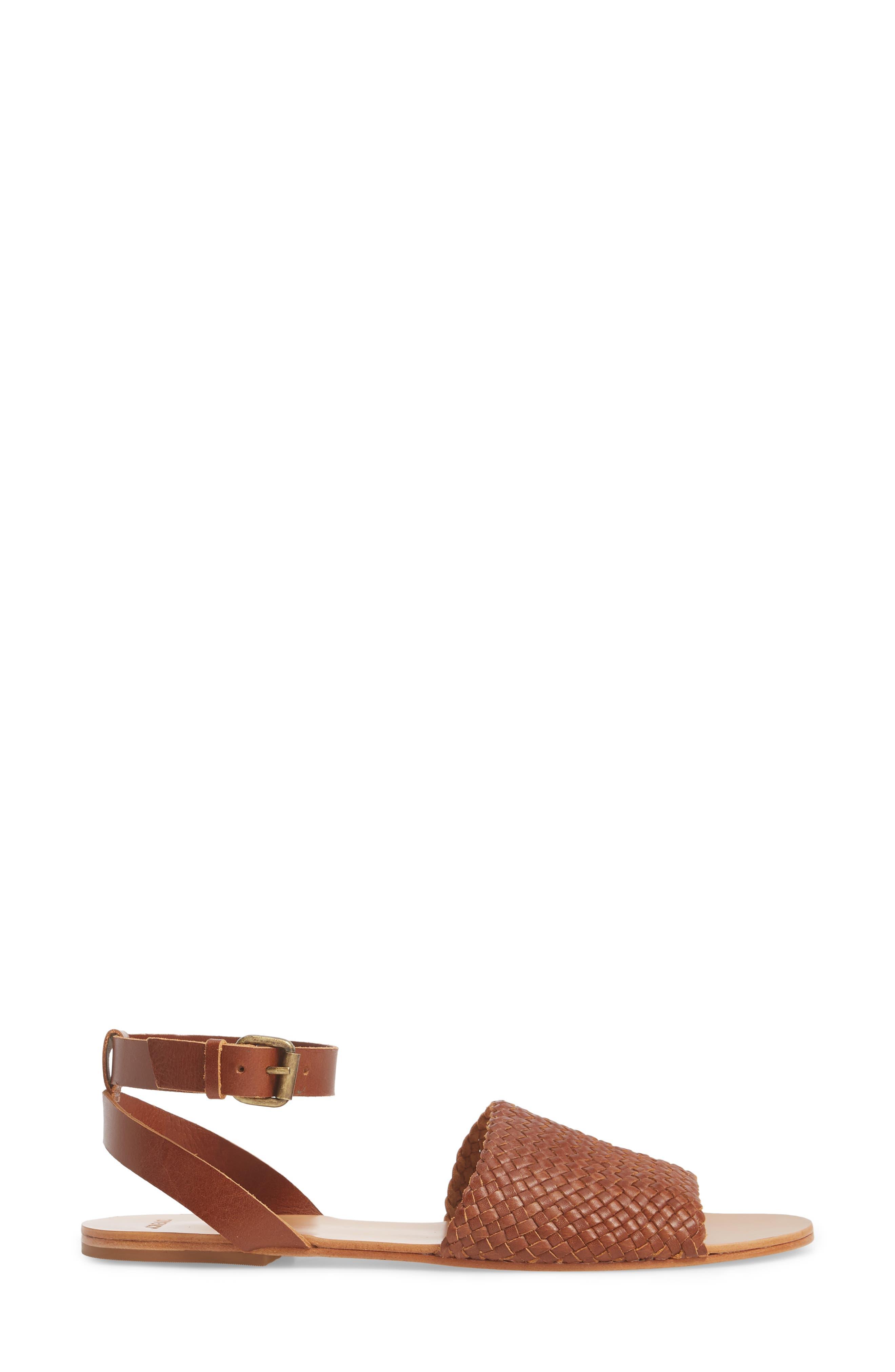 The Great Caravan Ankle Strap Sandal,                             Alternate thumbnail 3, color,                             Cognac
