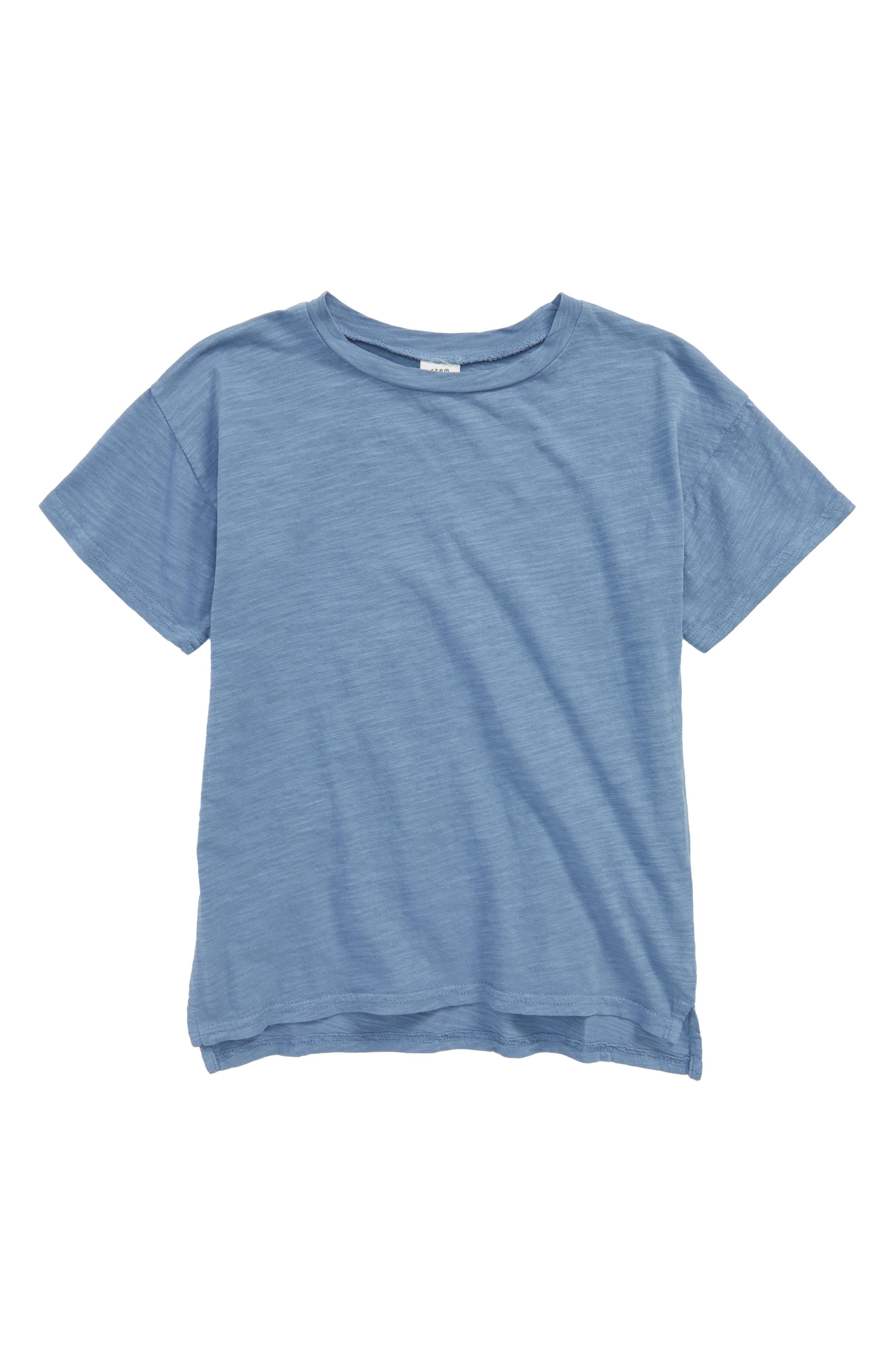 Short Sleeve Cotton T-Shirt,                             Main thumbnail 1, color,                             Blue Moonlight