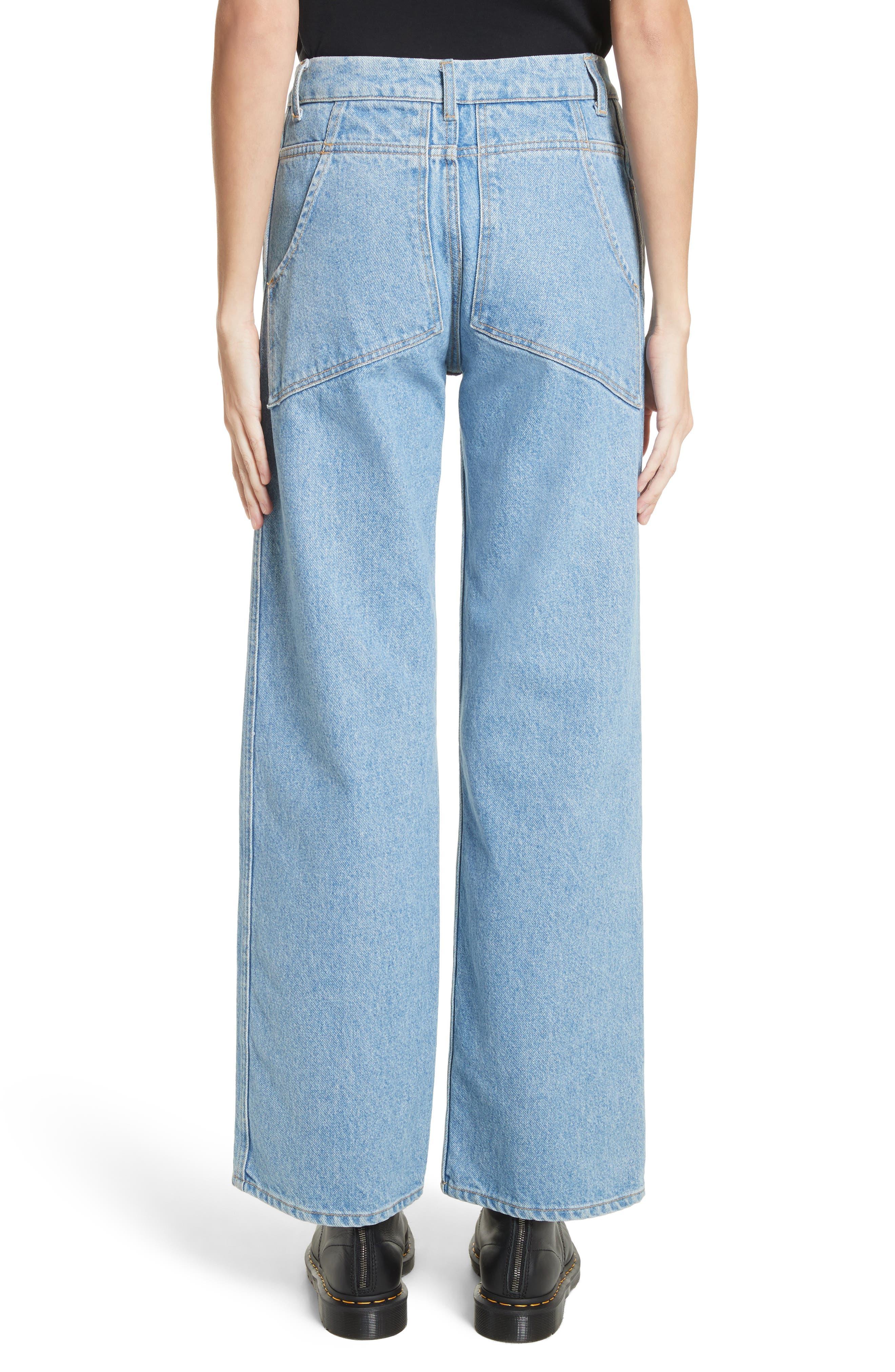 EL Wide Leg Jeans,                             Alternate thumbnail 2, color,                             True Blue