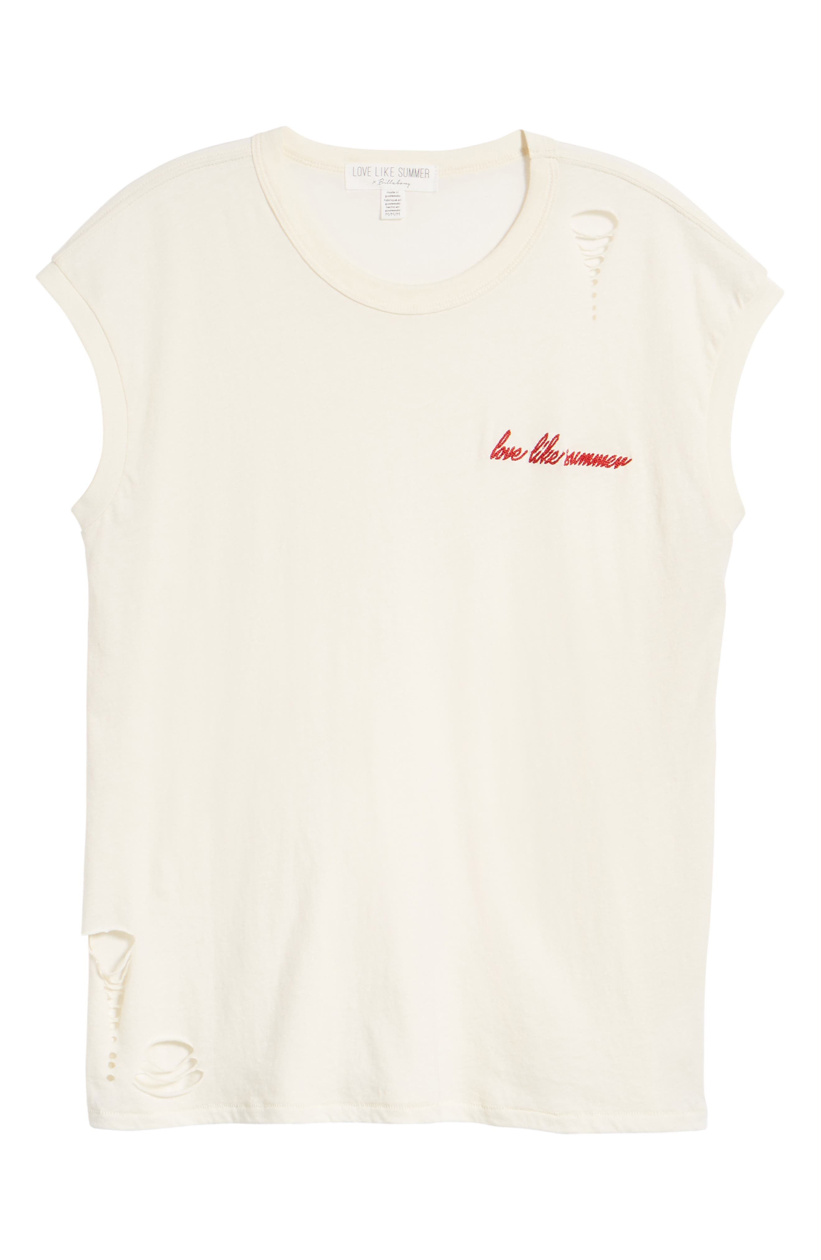 Vintage Muscle Tee,                             Alternate thumbnail 7, color,                             Cream