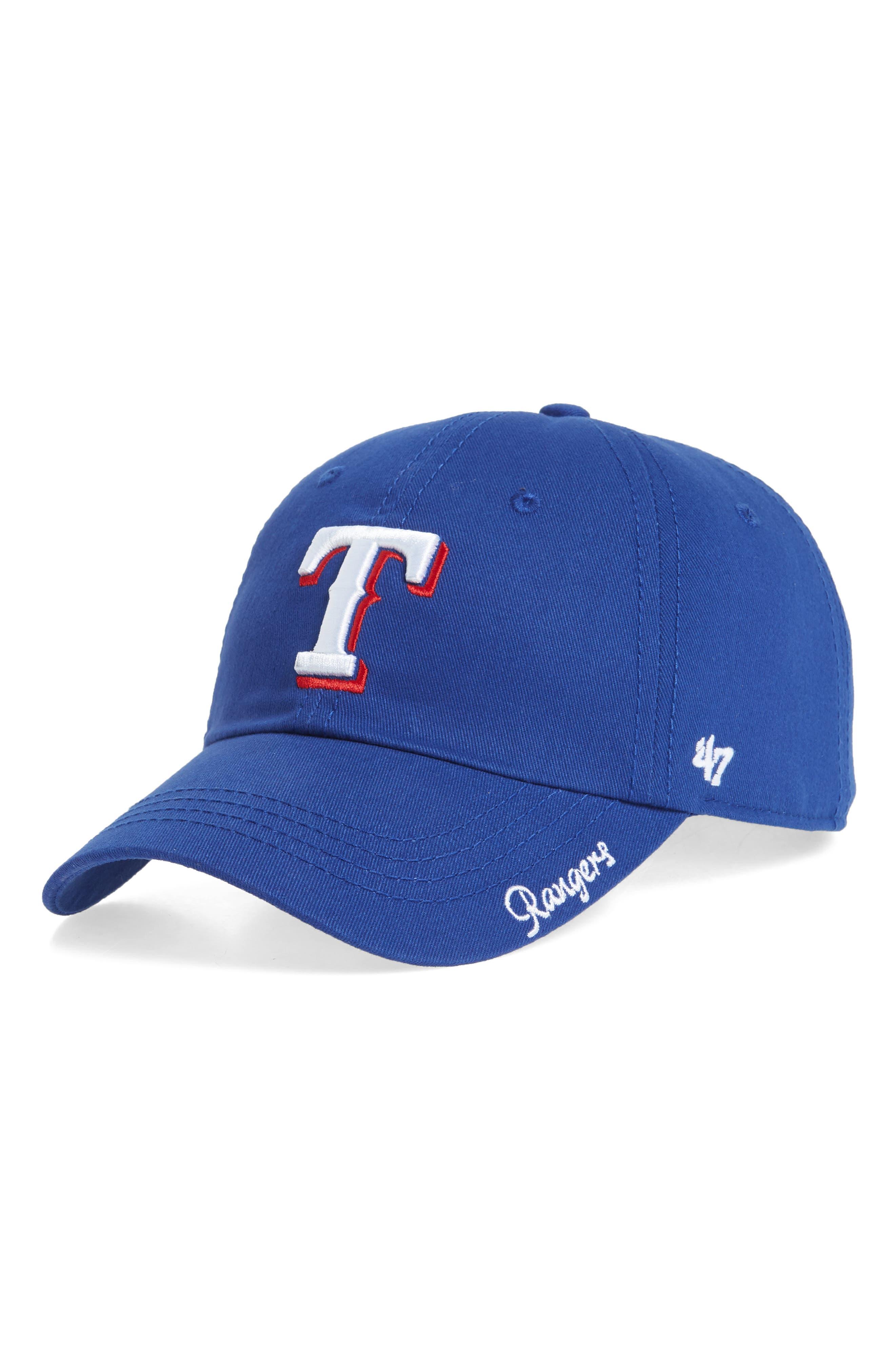 Miata Clean-Up Texas Rangers Baseball Cap,                         Main,                         color, Royal