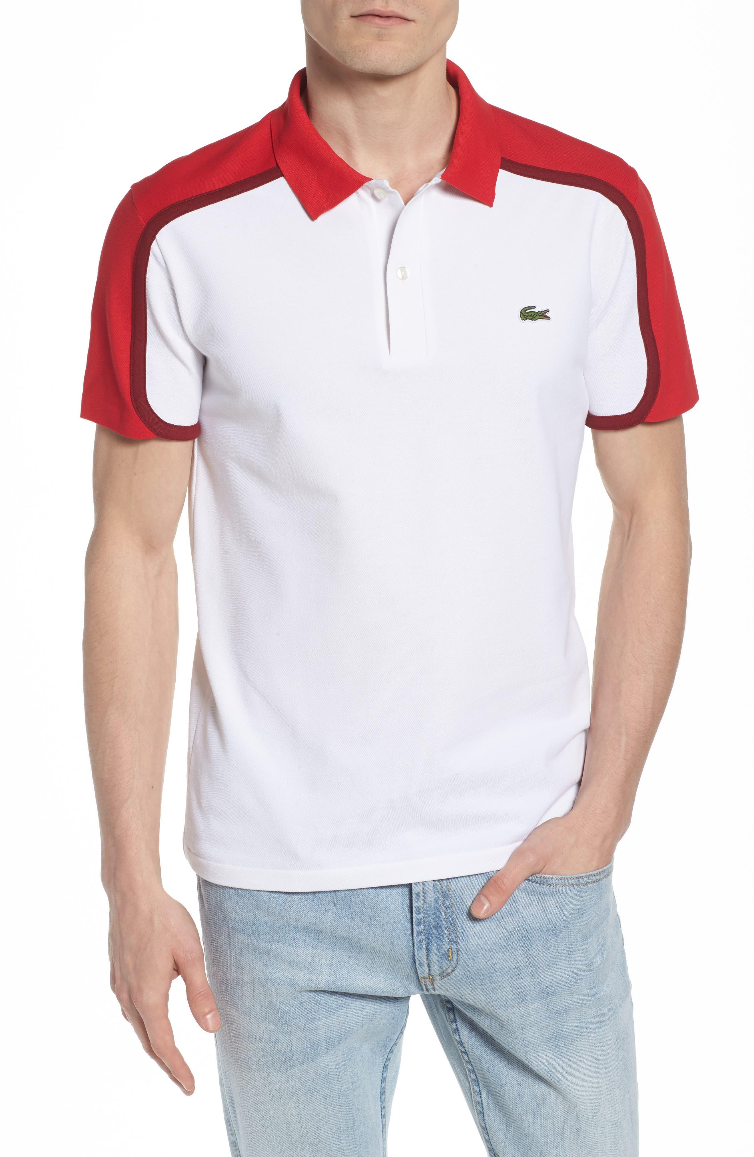 Lacoste Polo - white / toreador-turkey red vrFmW3x5