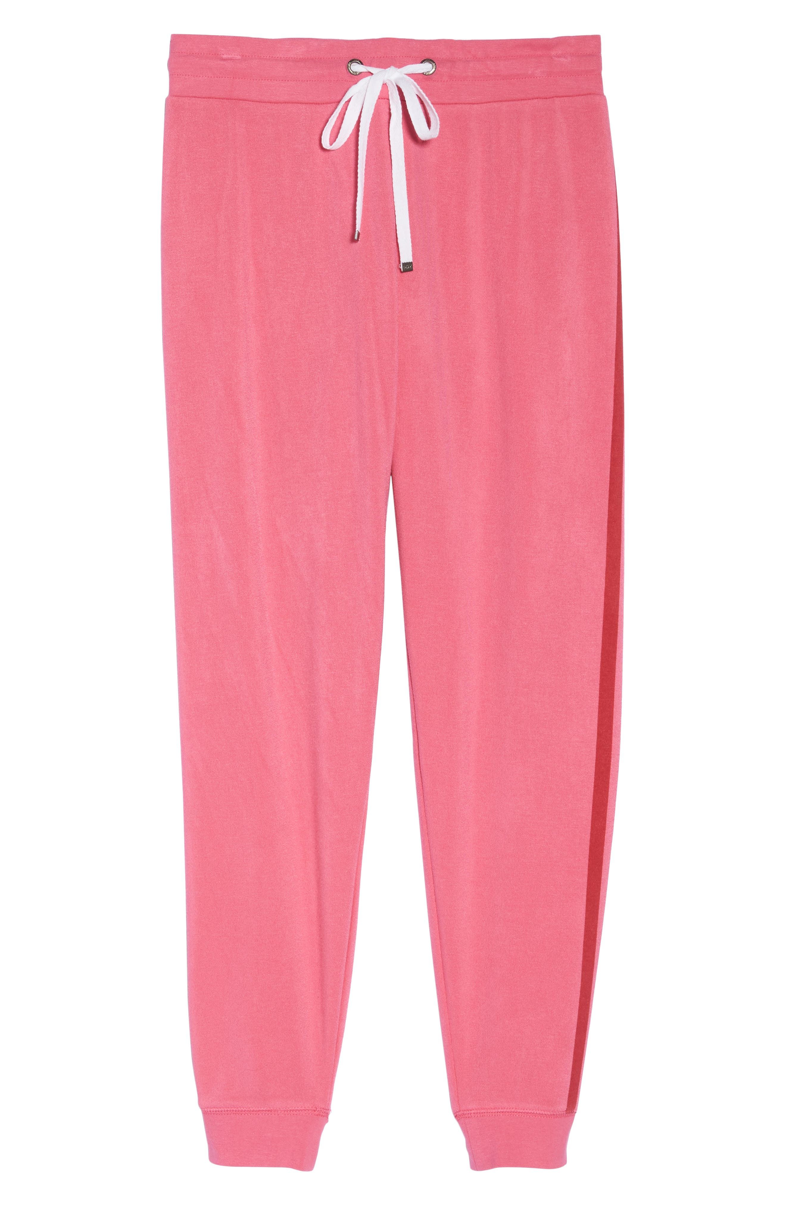 Firecracker Jogger Pajama Pants,                             Alternate thumbnail 5, color,                             Pink Fandango