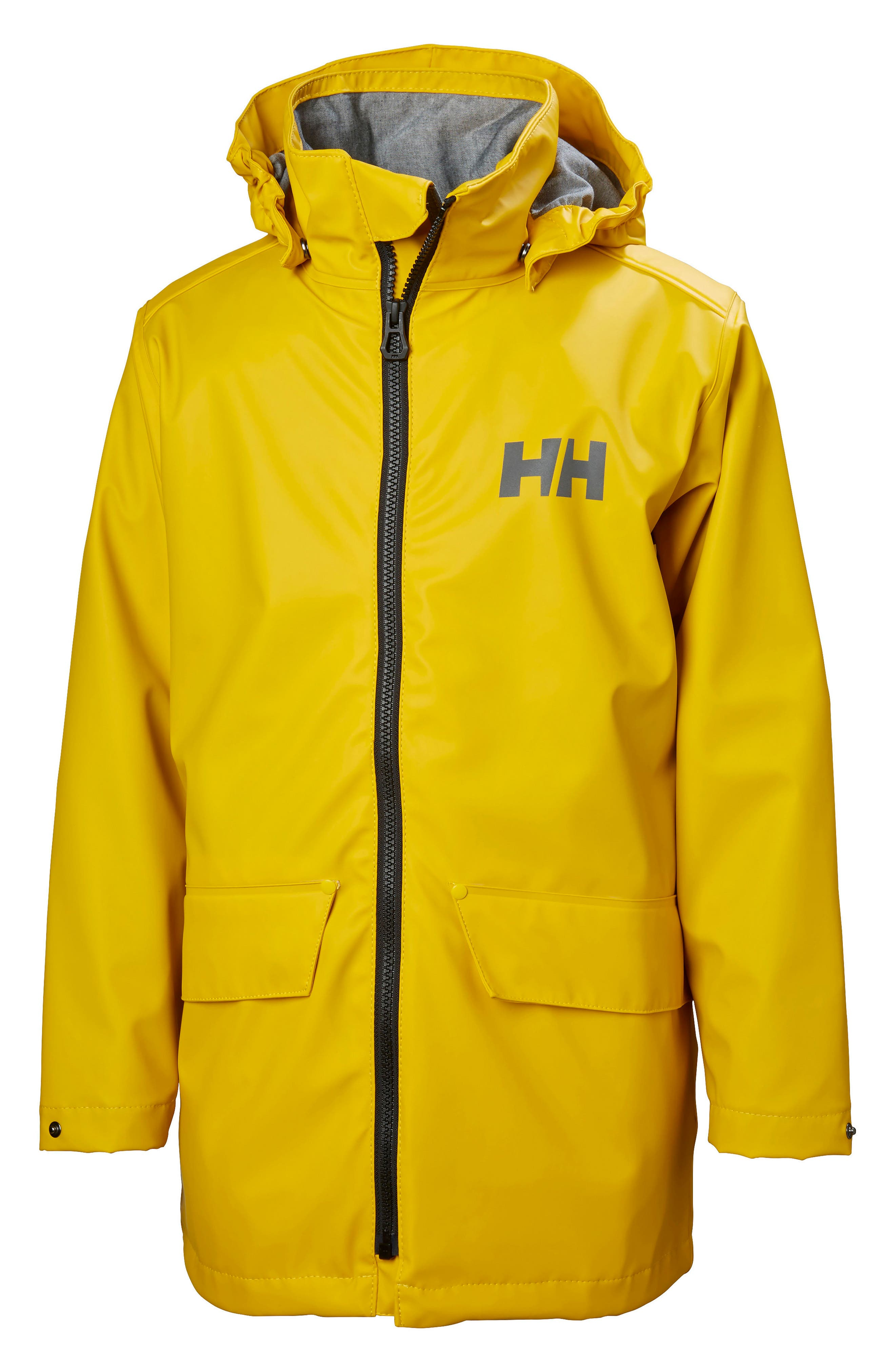 Skudenes Waterproof & Windproof Hooded Jacket,                             Main thumbnail 1, color,                             Essential Yellow