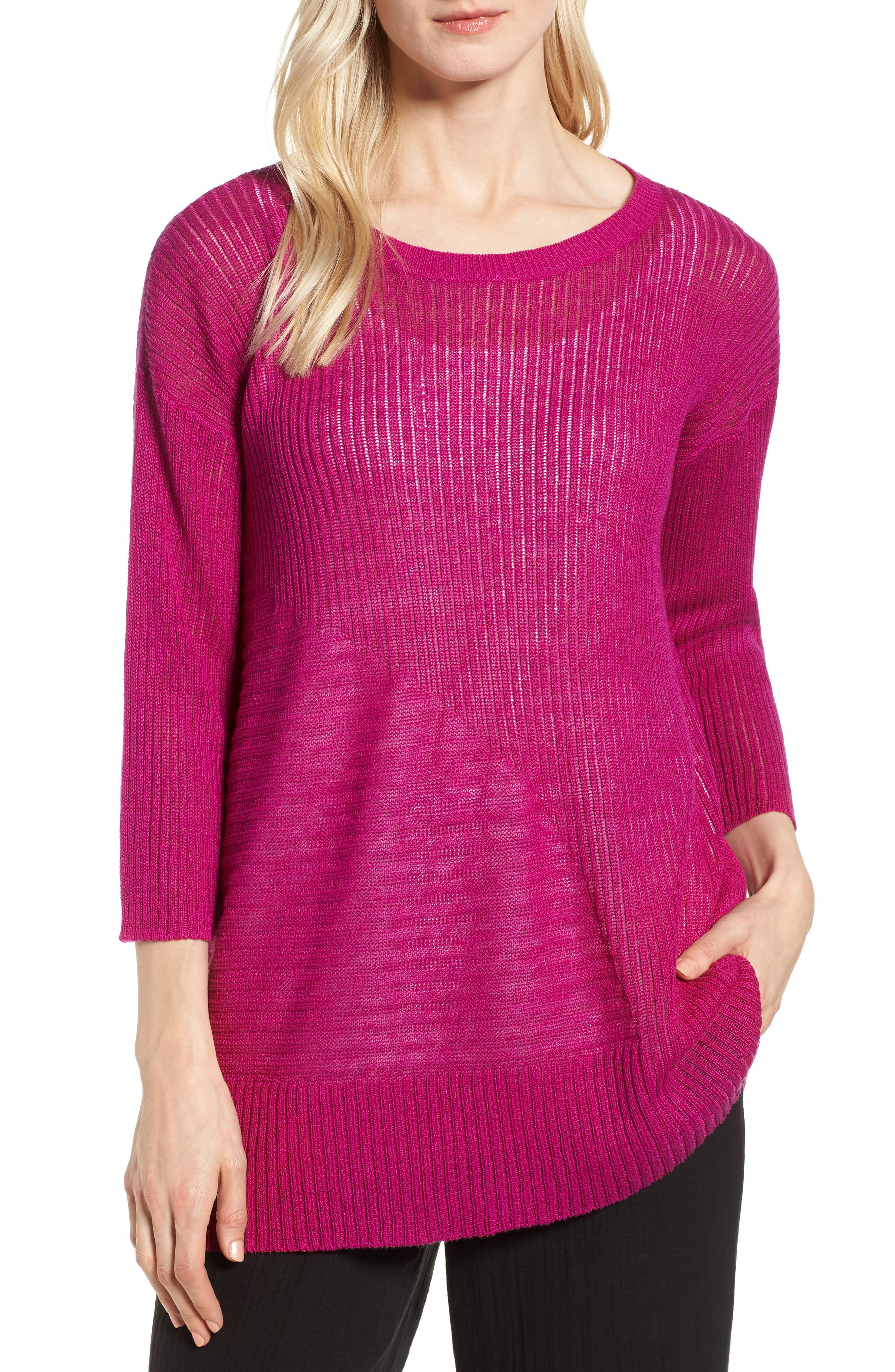 Eileen Fisher Organic Linen Tunic Sweater