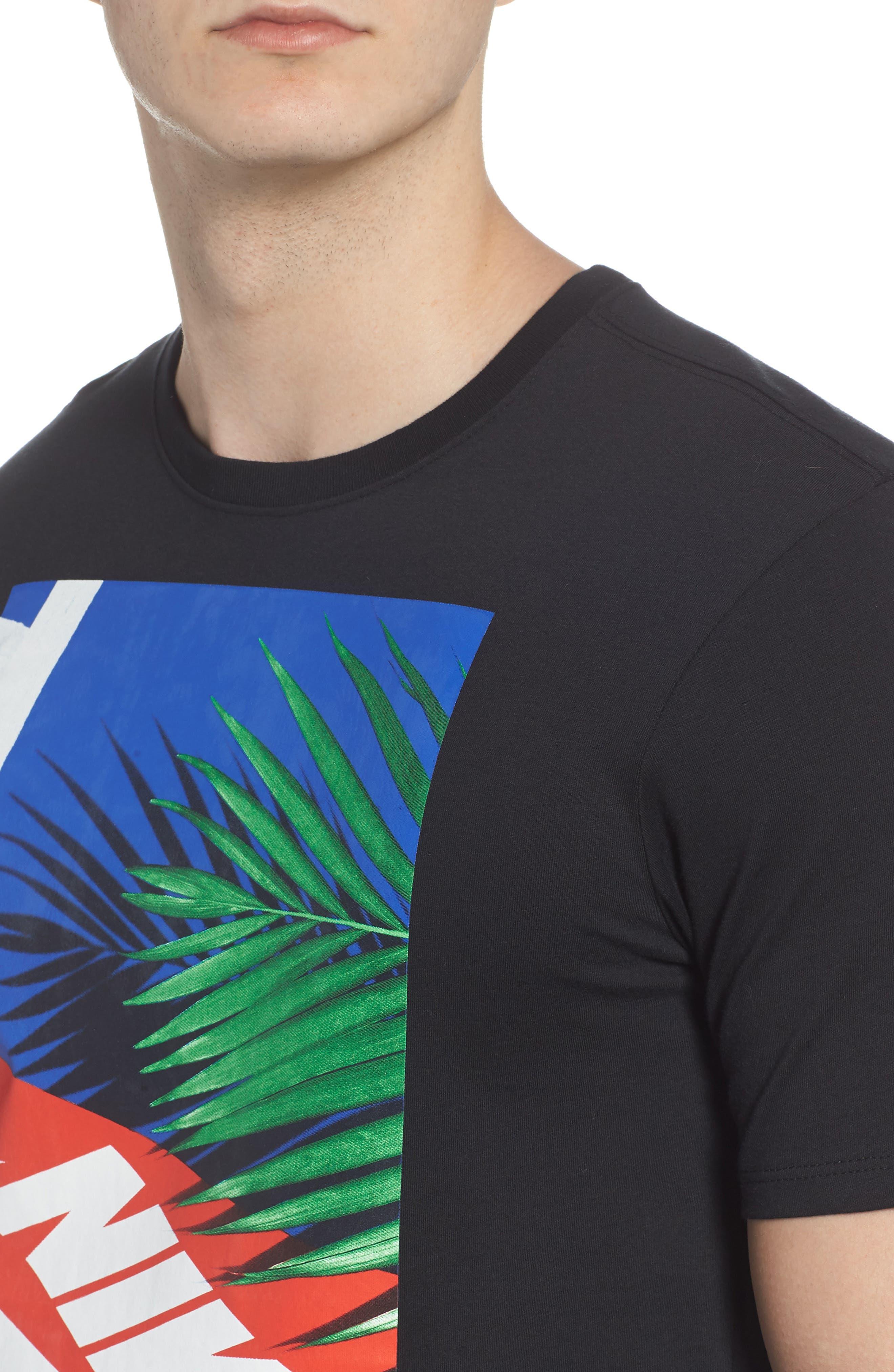 Sportswear Graphic T-Shirt,                             Alternate thumbnail 4, color,                             Black