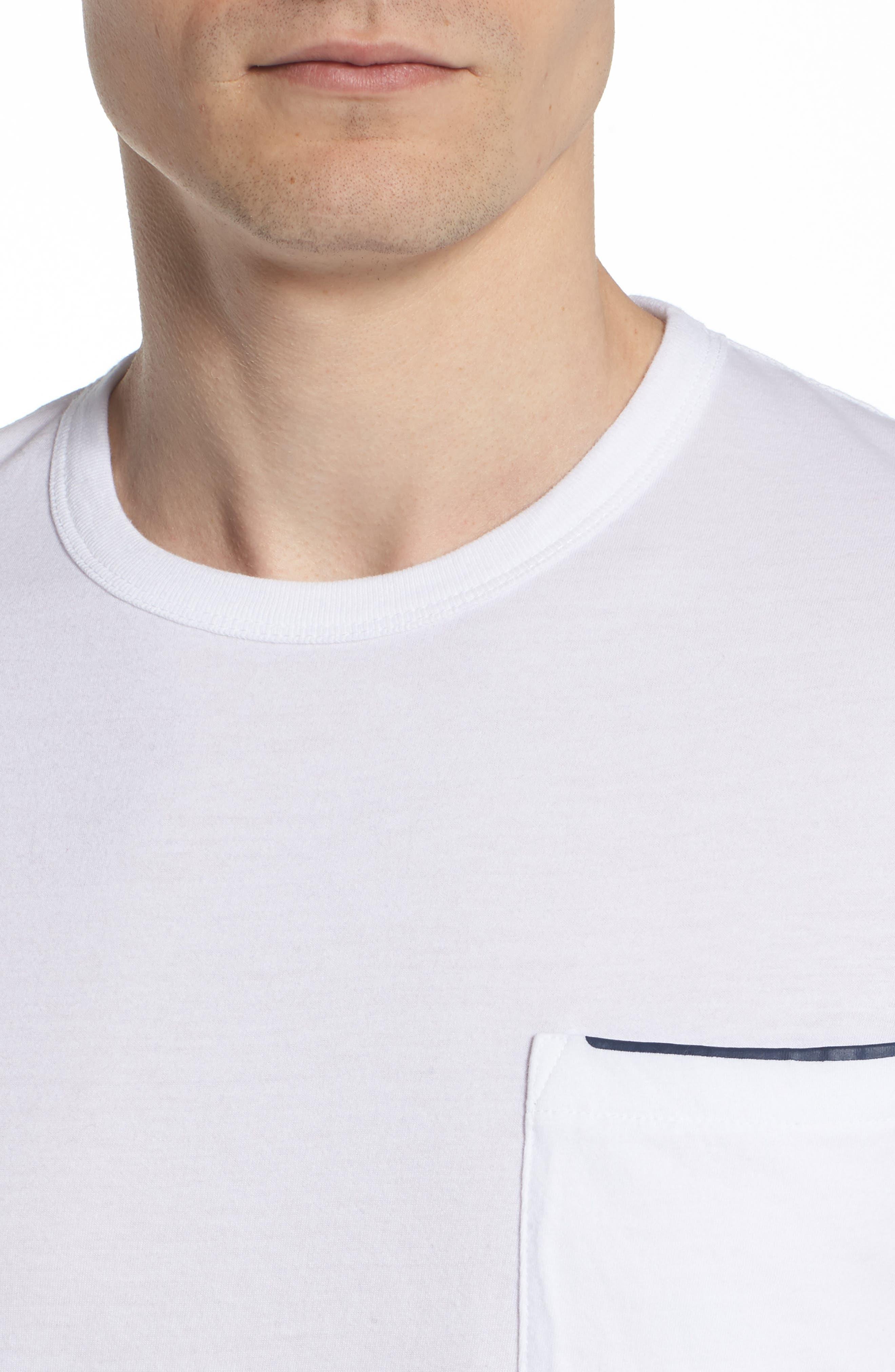 Crewneck Pocket T-Shirt,                             Alternate thumbnail 4, color,                             White