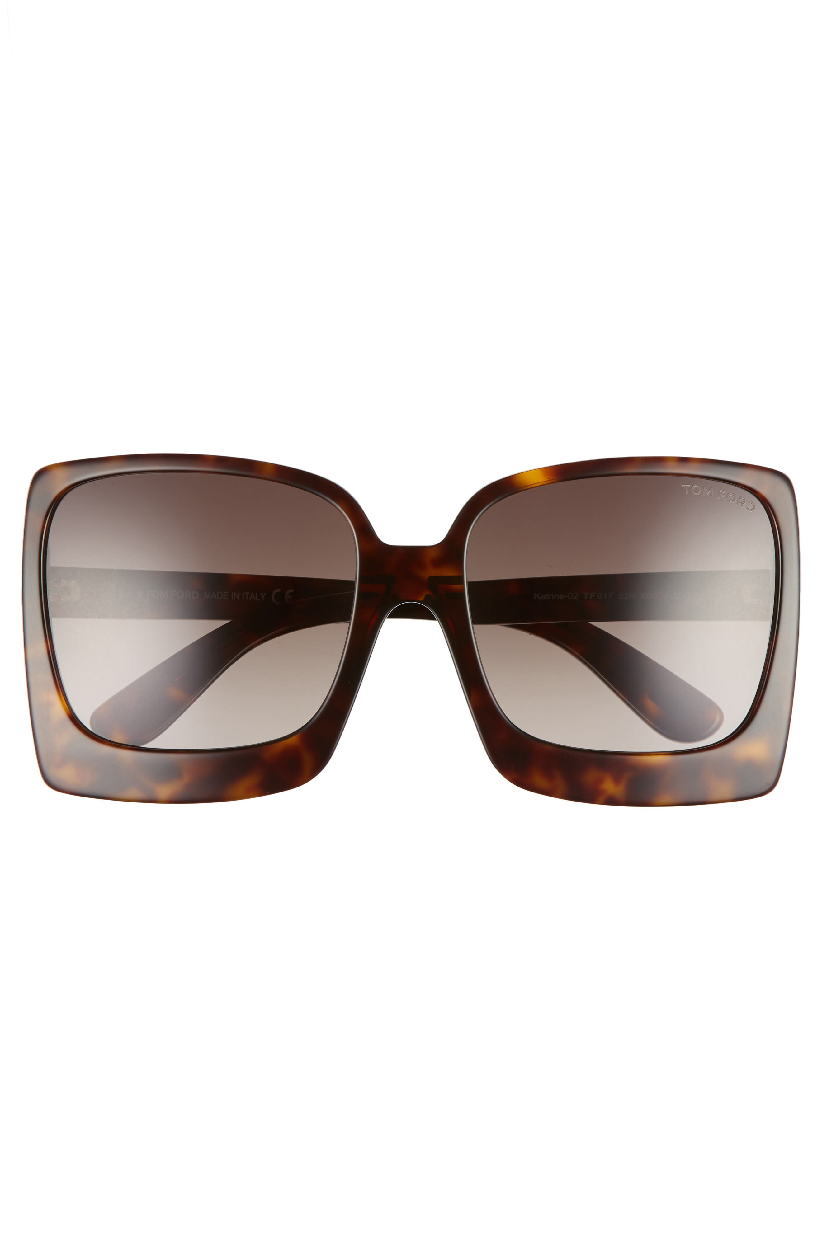 Katrine 60mm Sunglasses,                             Alternate thumbnail 3, color,                             Dark Havana/ Gradient Roviex