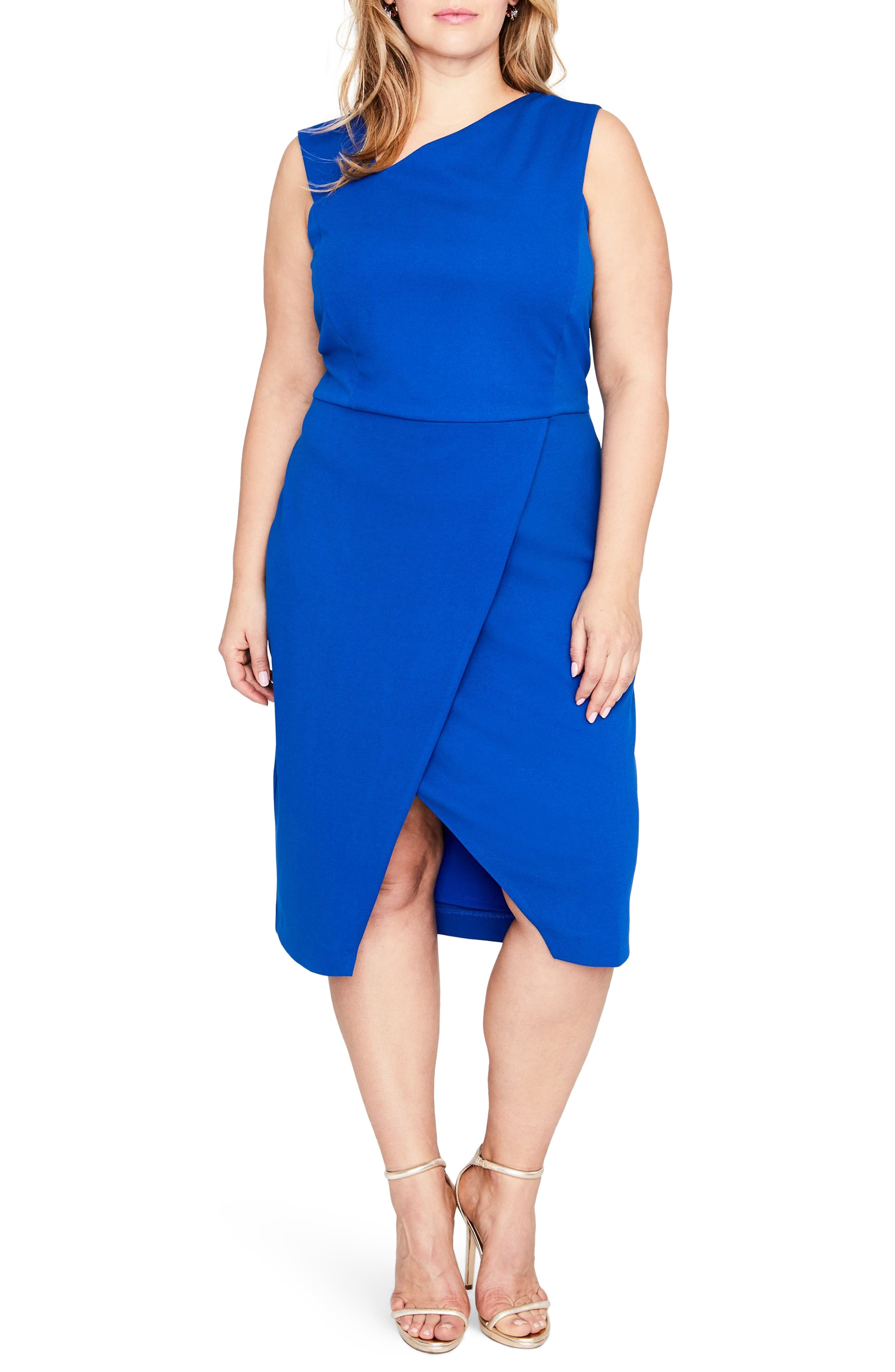 RACHEL Rachel Roy Willow Asymmetrical Sheath Dress (Plus Size)