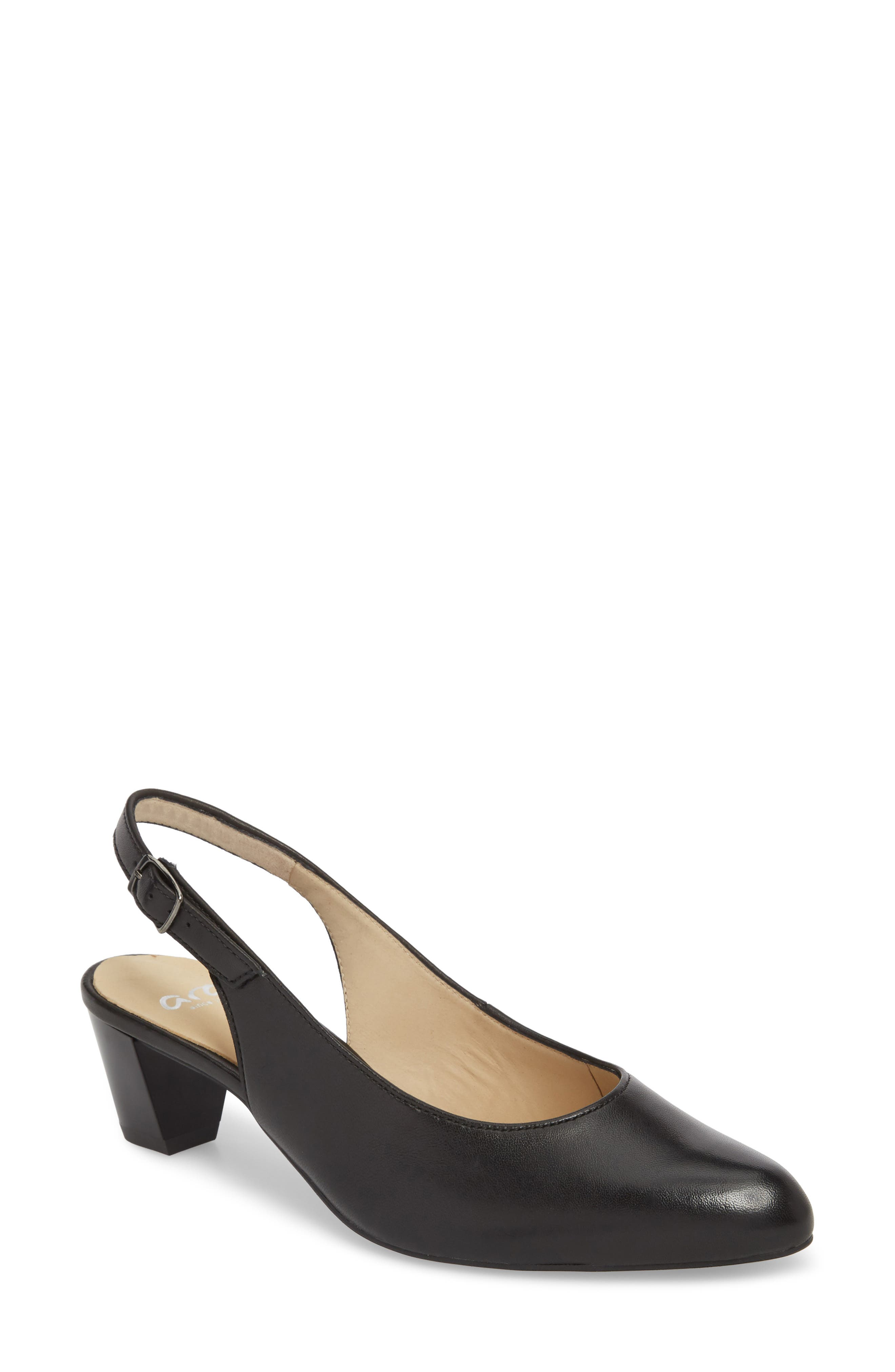 Karlie Pump,                         Main,                         color, Black Leather