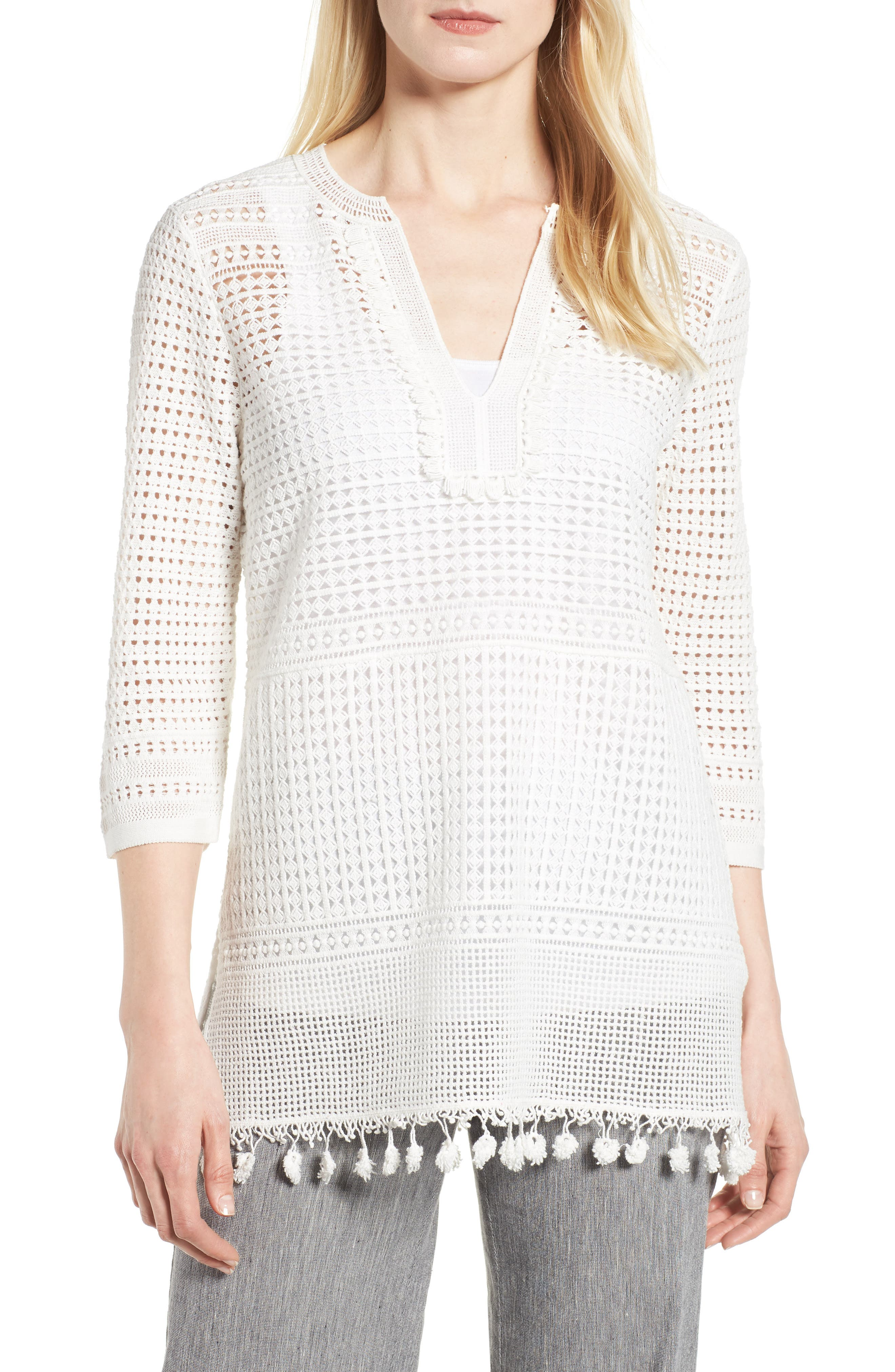 NIC+ZOE Right on Track Tunic Sweater