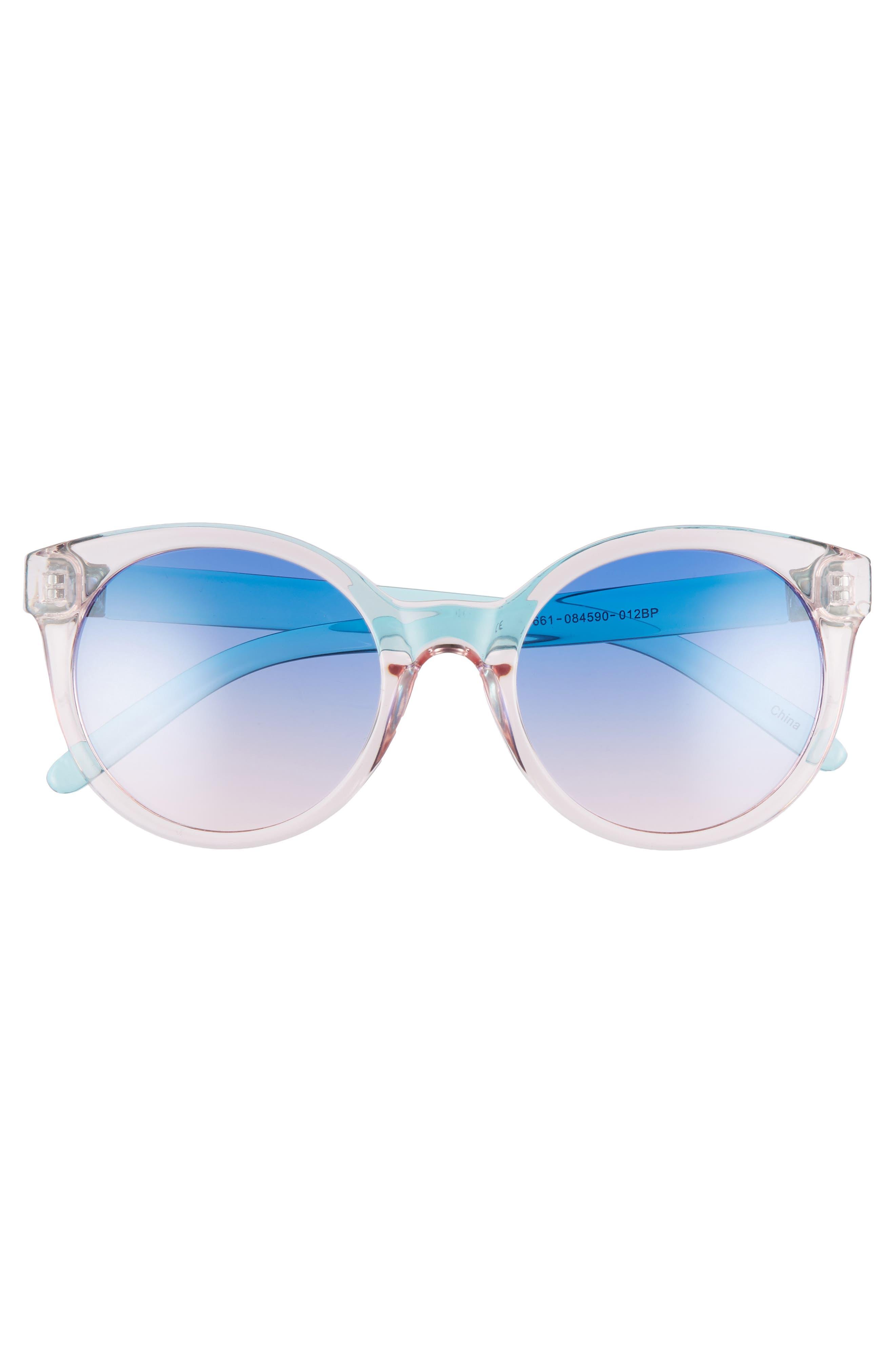 Transparent Round Sunglasses,                             Alternate thumbnail 3, color,                             Multi