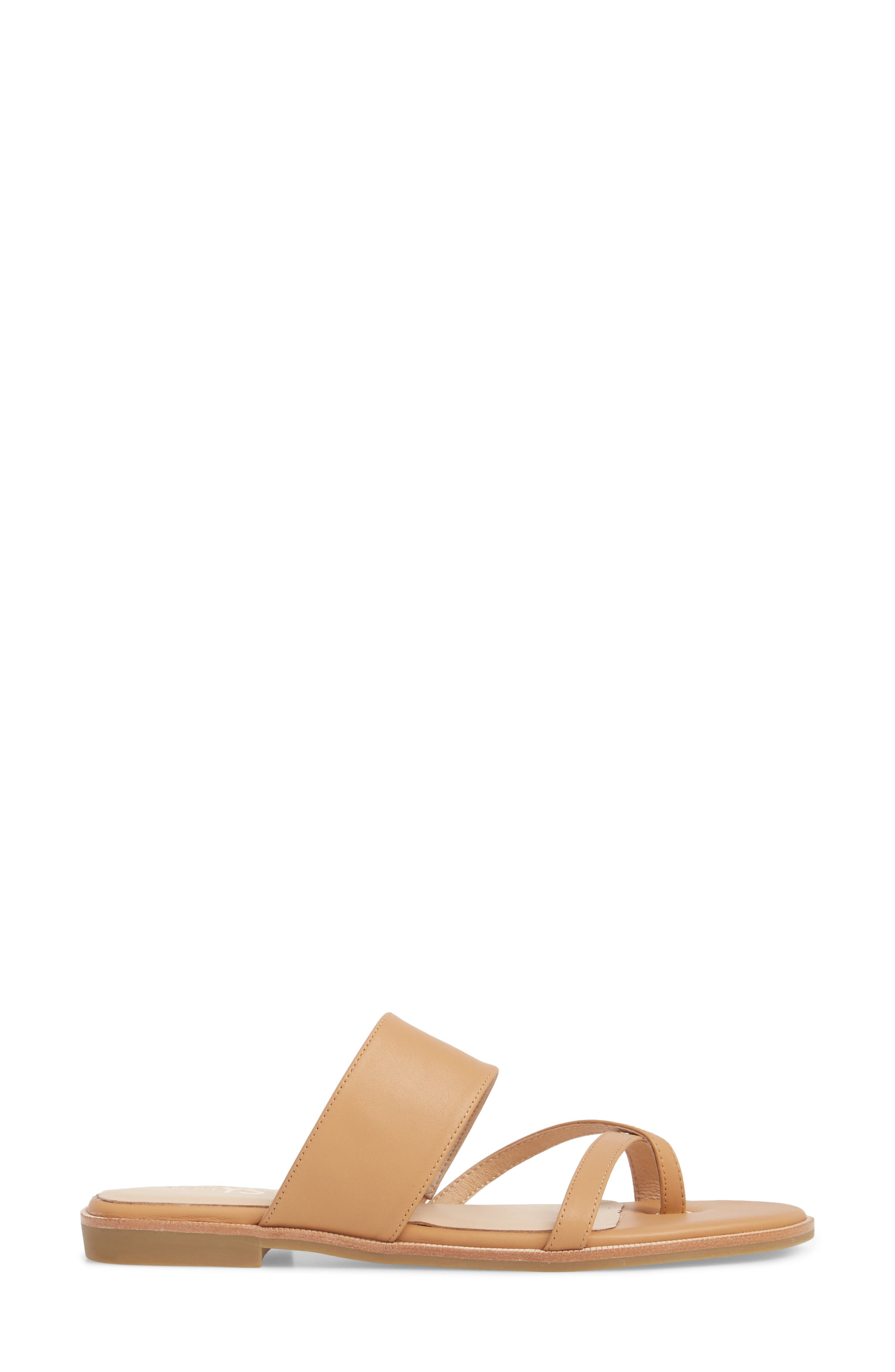 Carina Slide Sandal,                             Alternate thumbnail 3, color,                             Whiskey