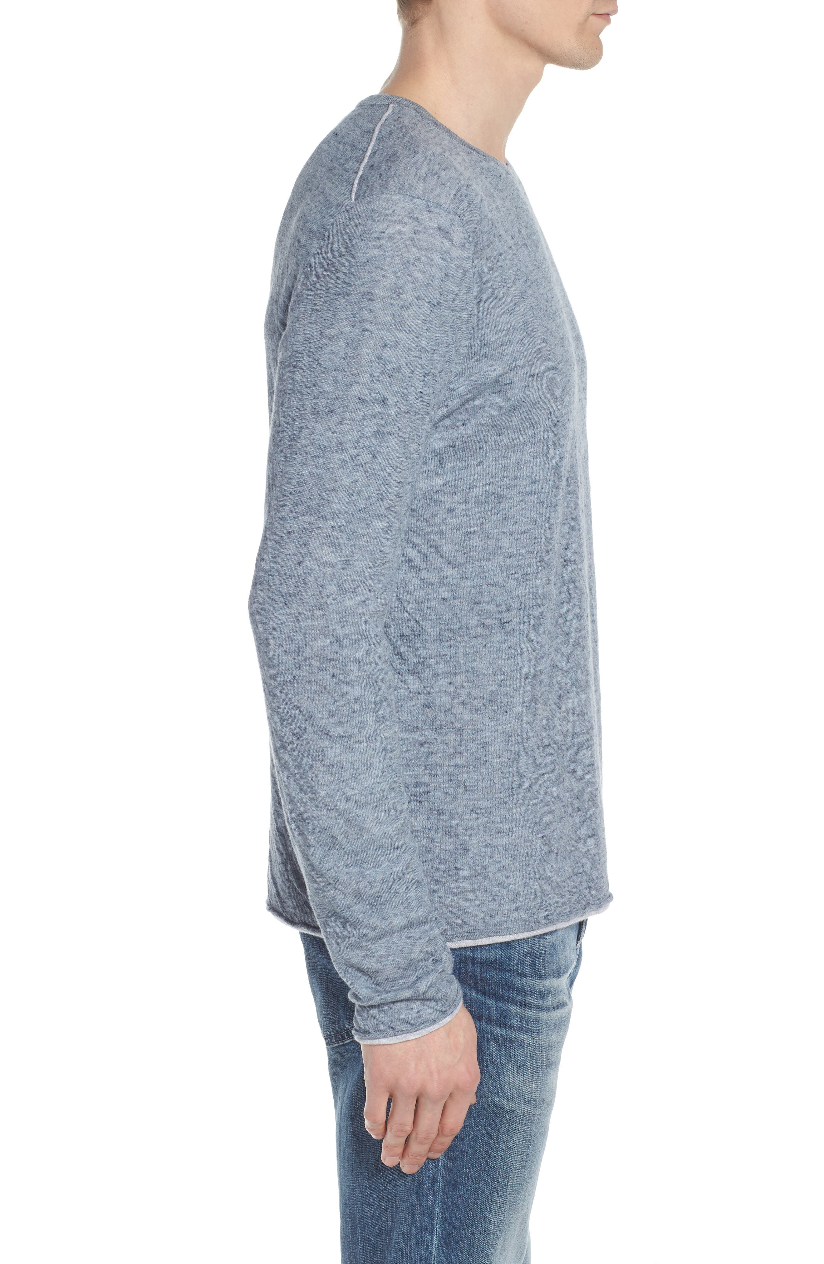 Tripp Regular Fit Crewneck Shirt,                             Alternate thumbnail 3, color,                             Light Blue