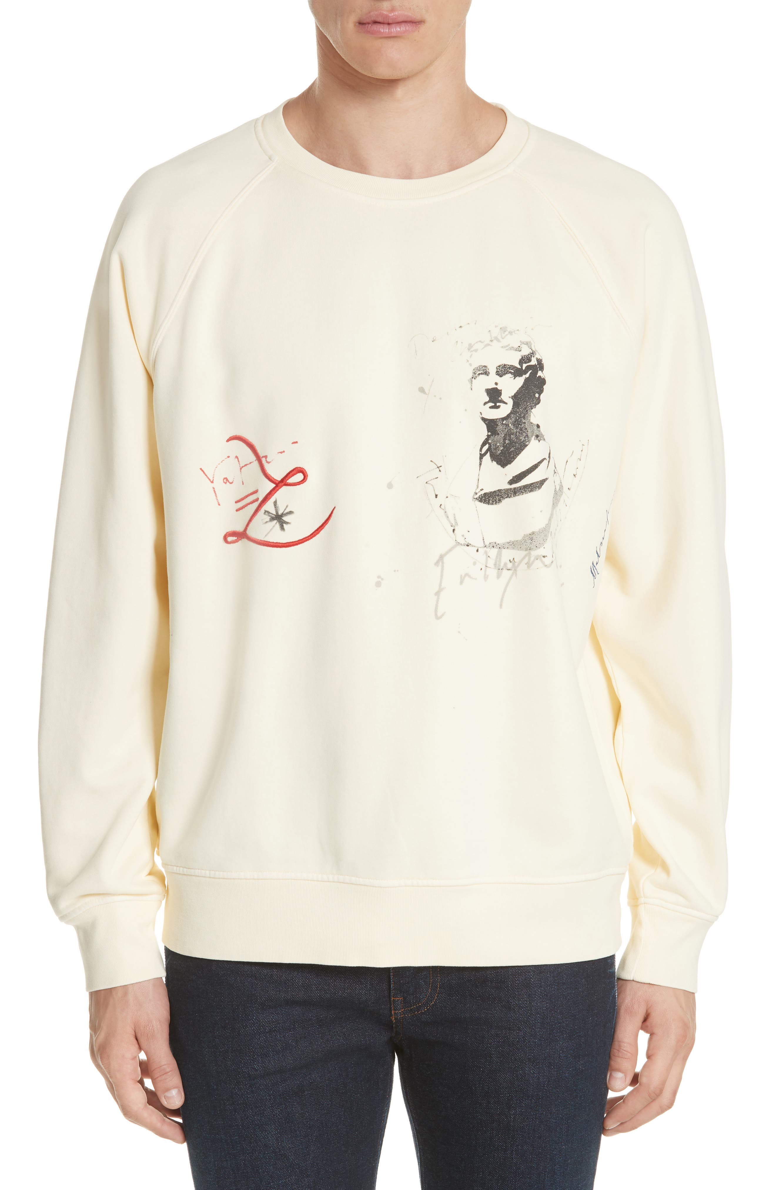 Earlford Graphic Sweatshirt,                             Main thumbnail 1, color,                             Pale Yellow