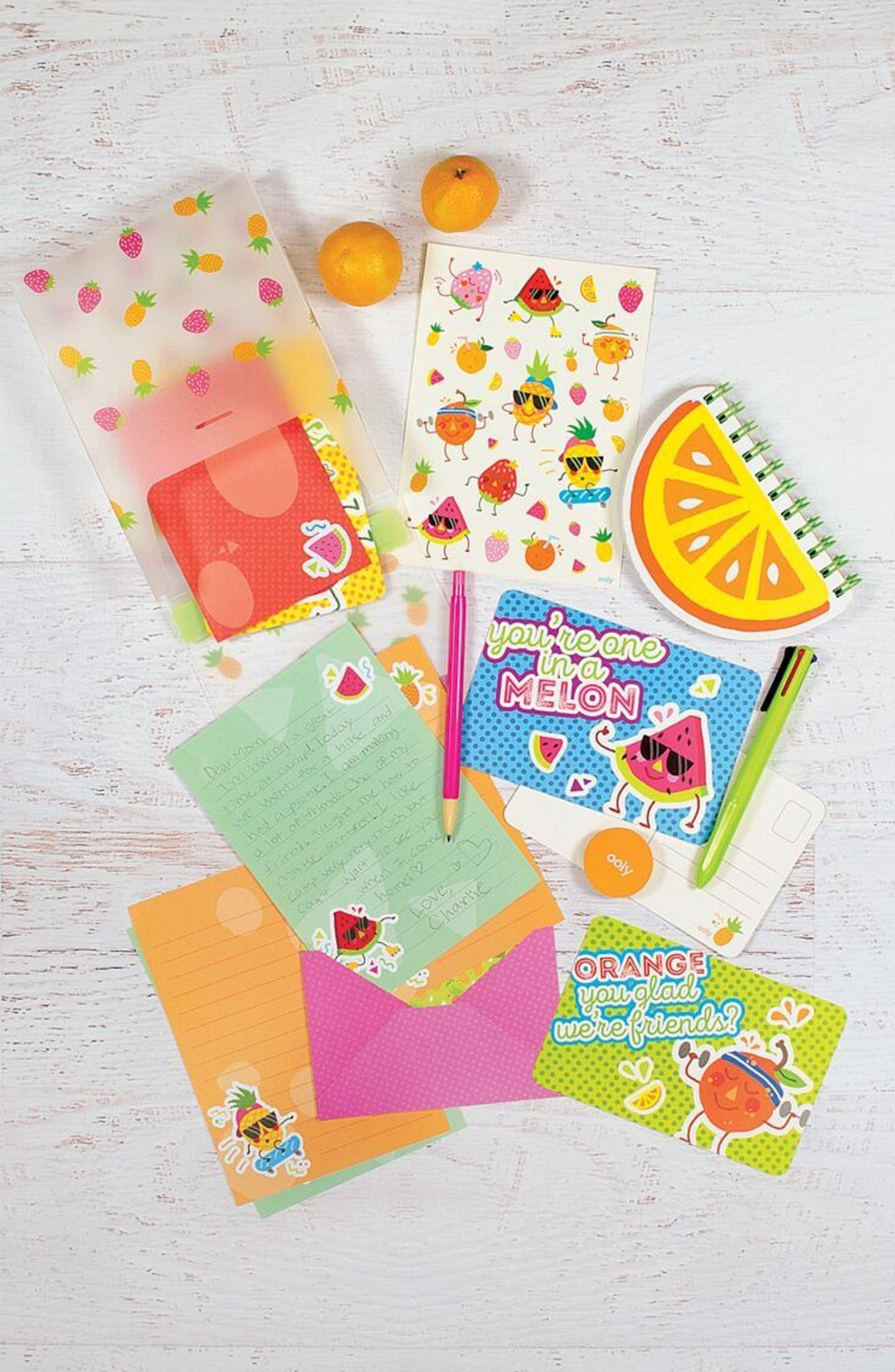 Ooly Fresh Fruit Travel Stationary Kit,                             Alternate thumbnail 3, color,                             Multi