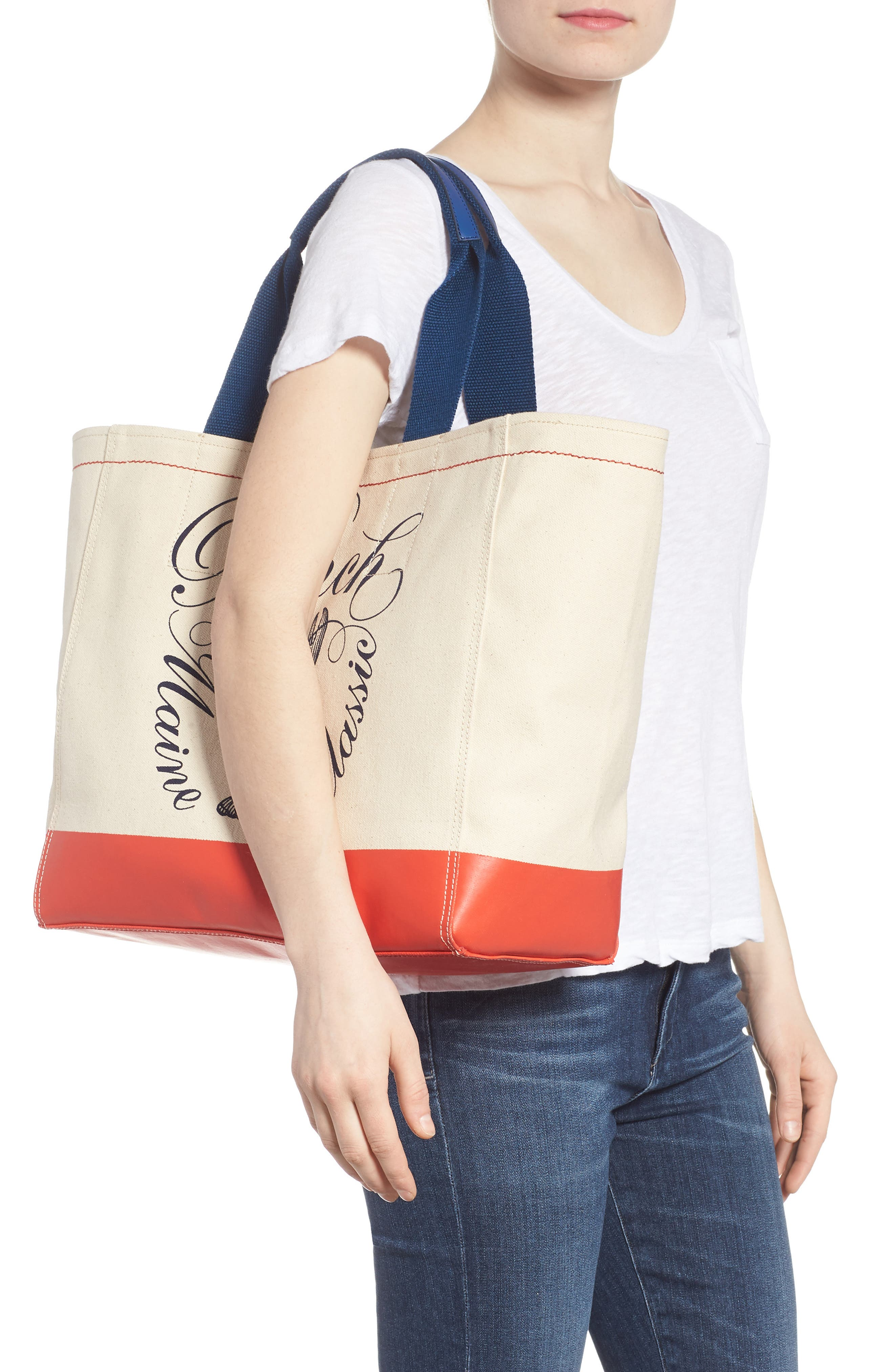 Pinch Canvas Tote,                             Alternate thumbnail 2, color,                             Lobster Print