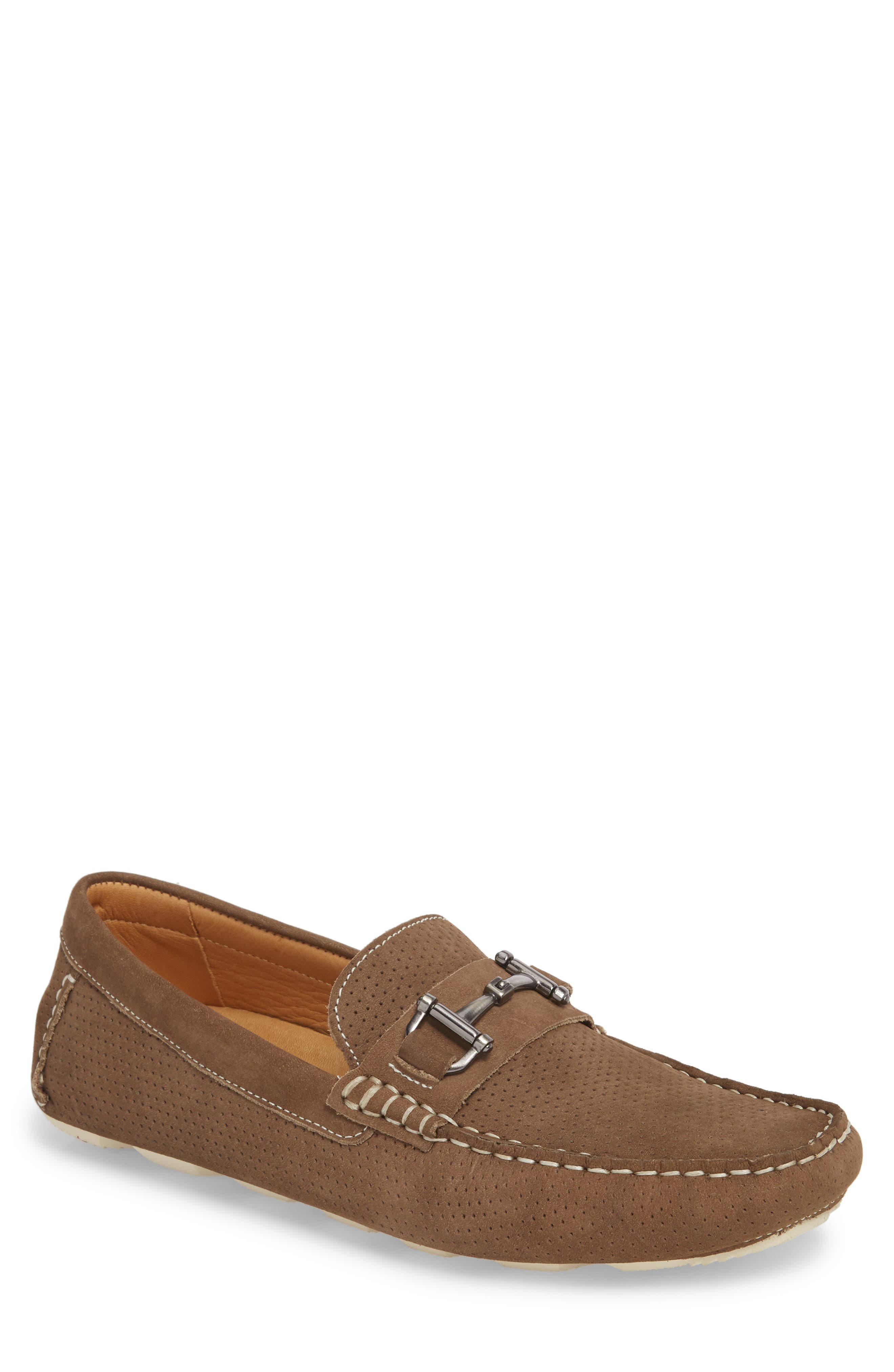 Collections Men Brushed-Suede Slip-On Shoes Neutrals - H2F687628
