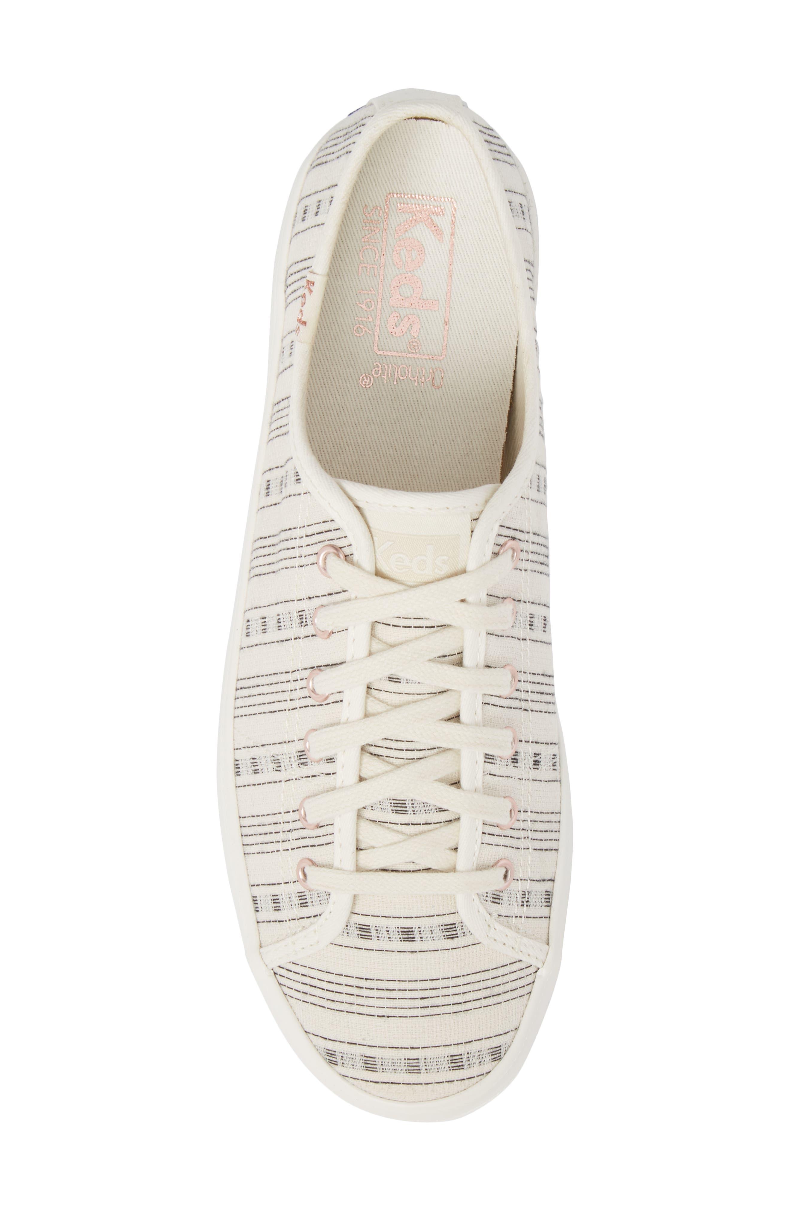 Kickstart Summer Stripe Sneaker,                             Alternate thumbnail 5, color,                             Cream