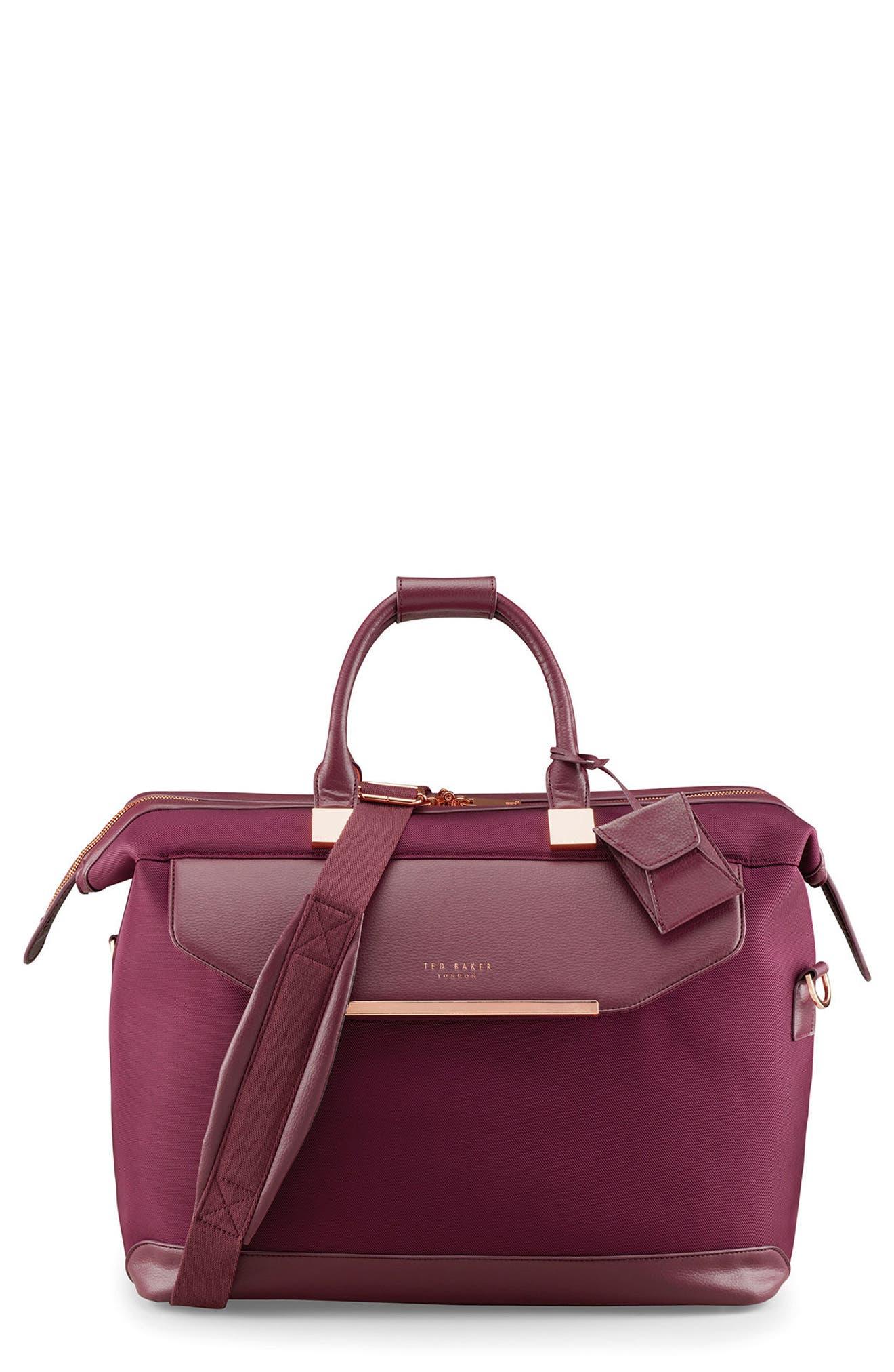 Small Clipper Duffel Bag,                         Main,                         color, Burgundy