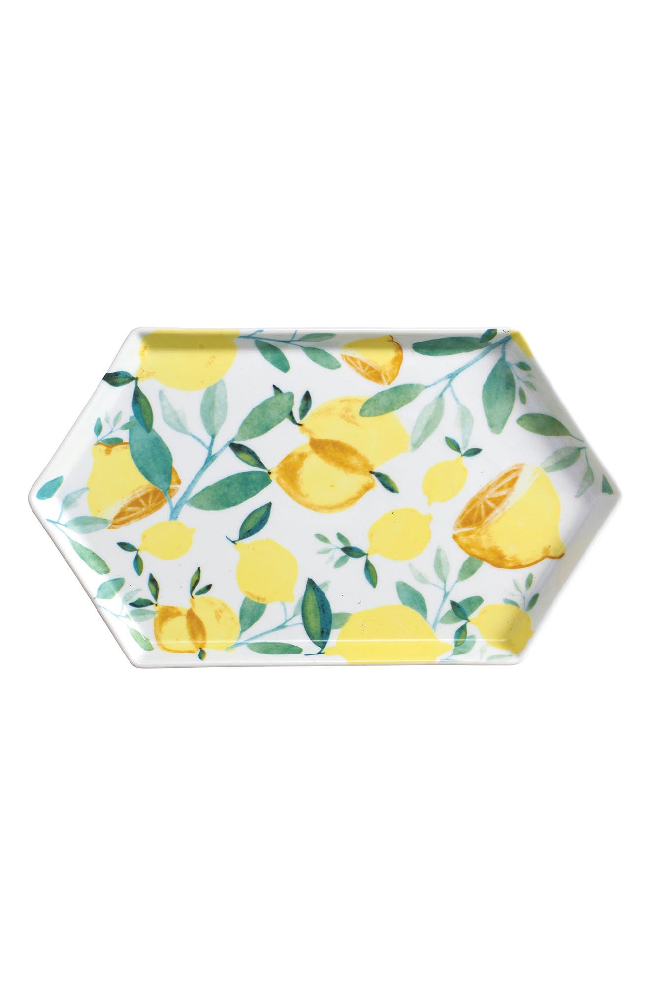 Lemon Hexagon Tray,                             Main thumbnail 1, color,                             Yellow Multi