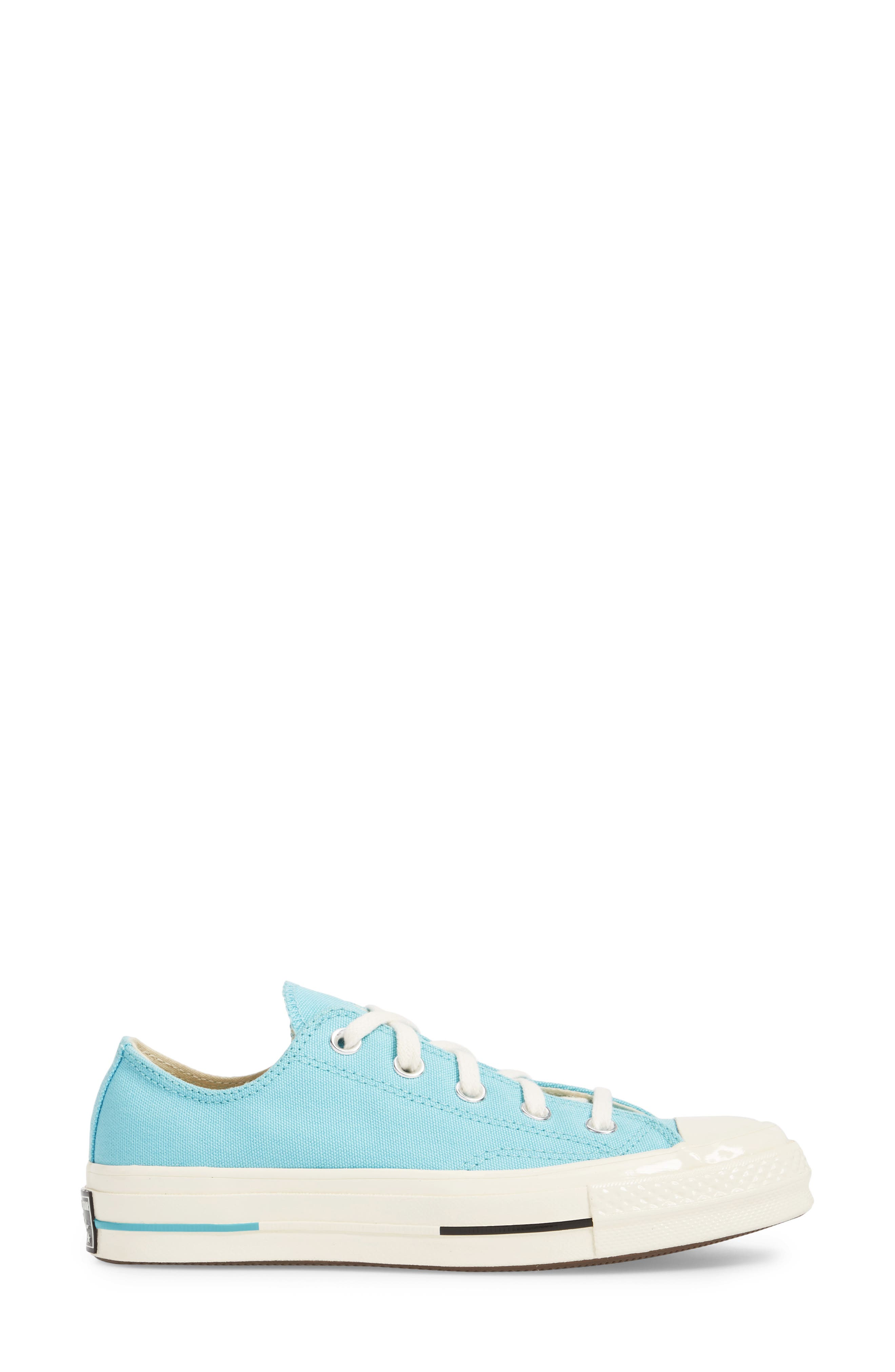Chuck Taylor<sup>®</sup> All Star<sup>®</sup> '70s Brights Low Top Sneaker,                             Alternate thumbnail 3, color,                             Bleached Aqua